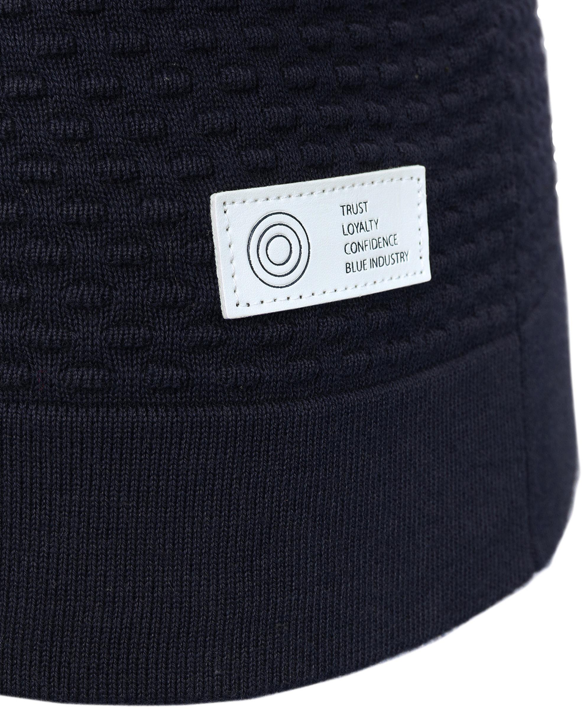 Blue Industry Vest met Rits donkerblauw foto 3