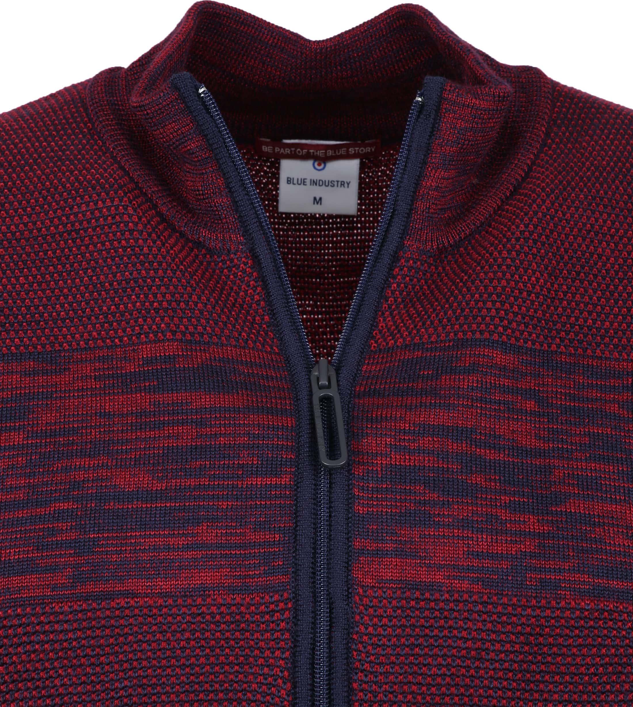 Blue Industry Zipper Vest Bordeaux foto 1