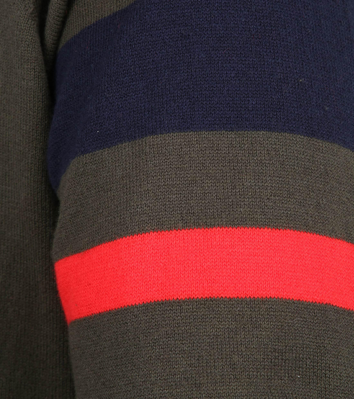 Blue Industry Zipper Vest Donkergroen foto 3