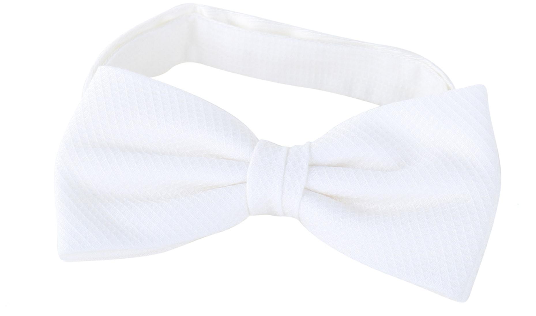 Bow Tie Pique White