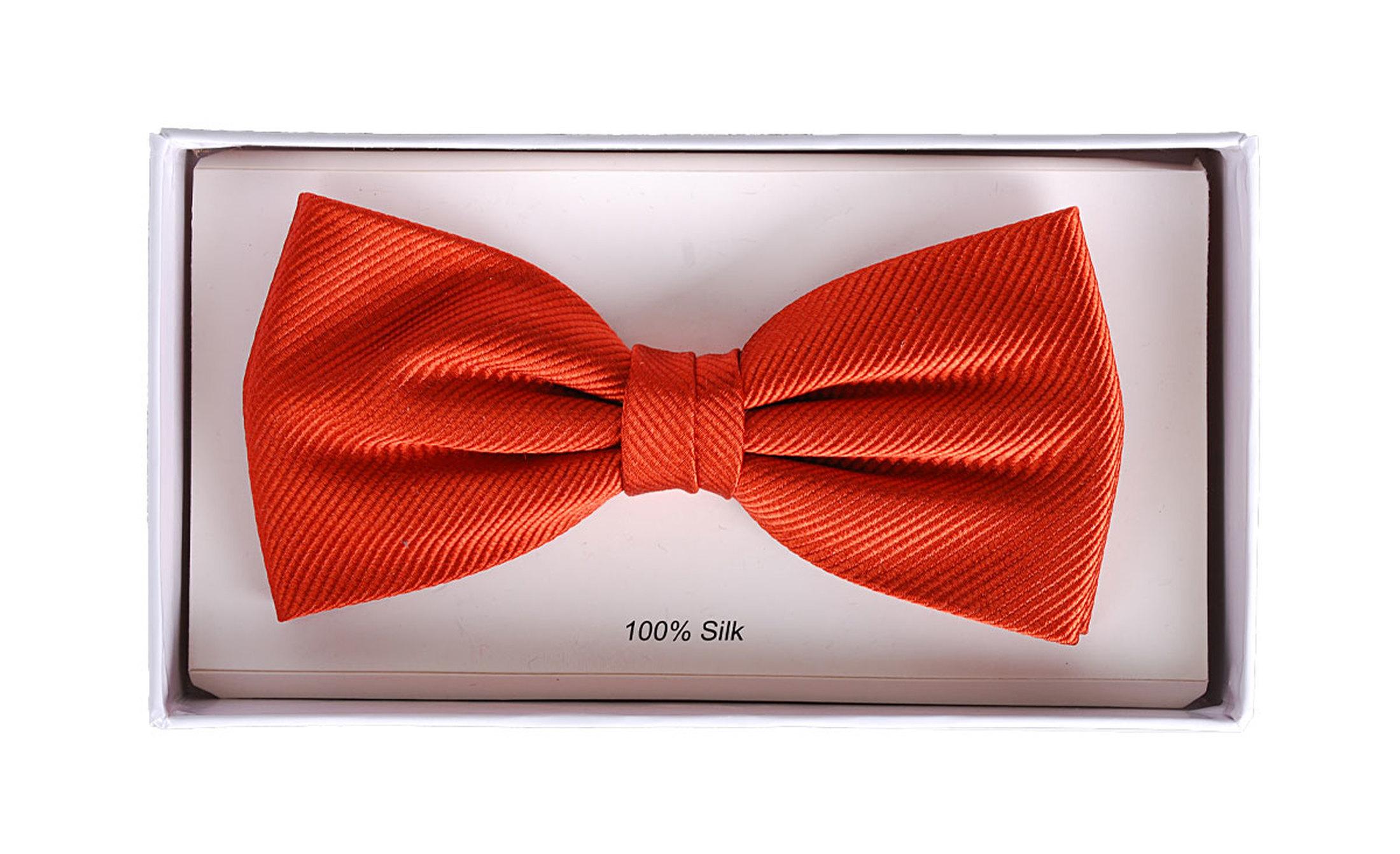 Bow Tie Silk Brique F14