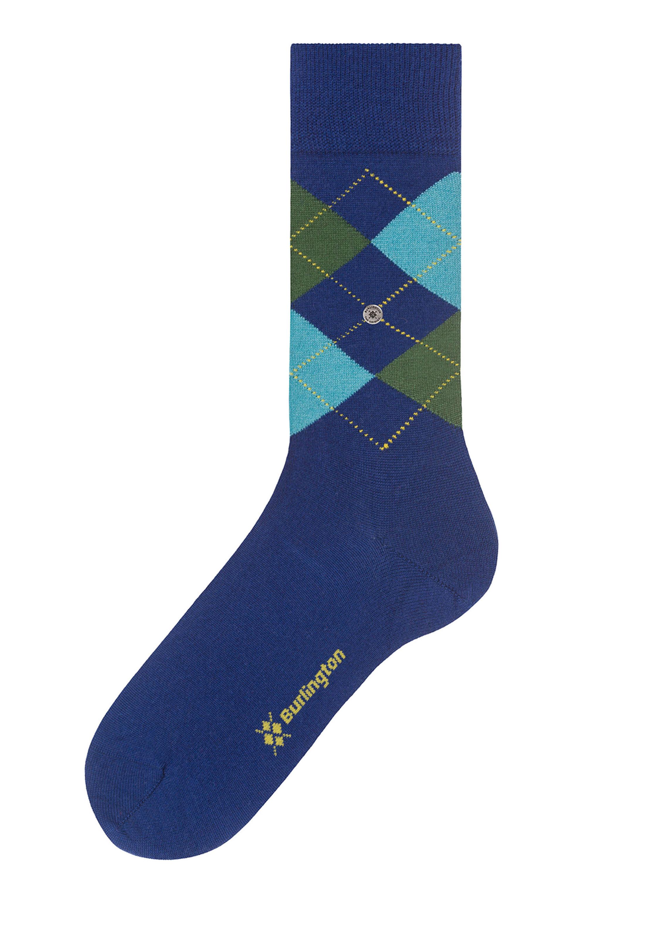 Burlington Sokken Edinburgh Blauw foto 1