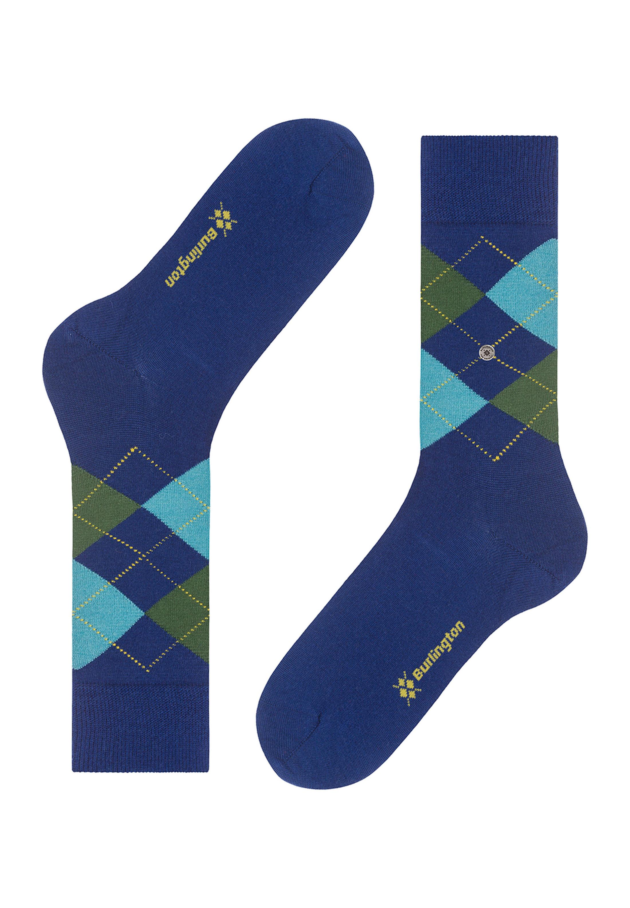 Burlington Sokken Edinburgh Blauw foto 2
