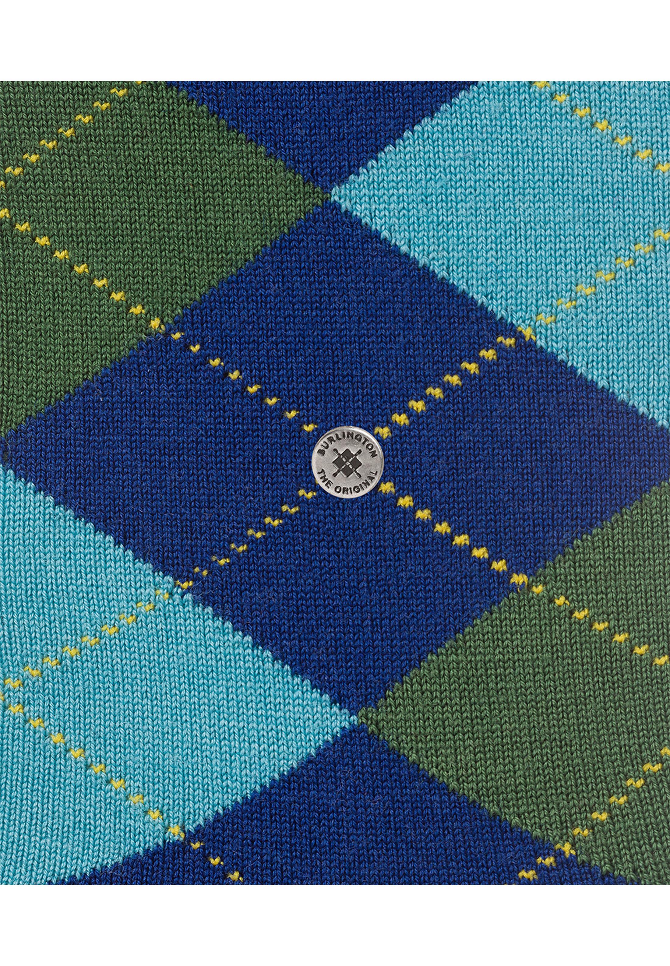 Burlington Sokken Edinburgh Blauw foto 3