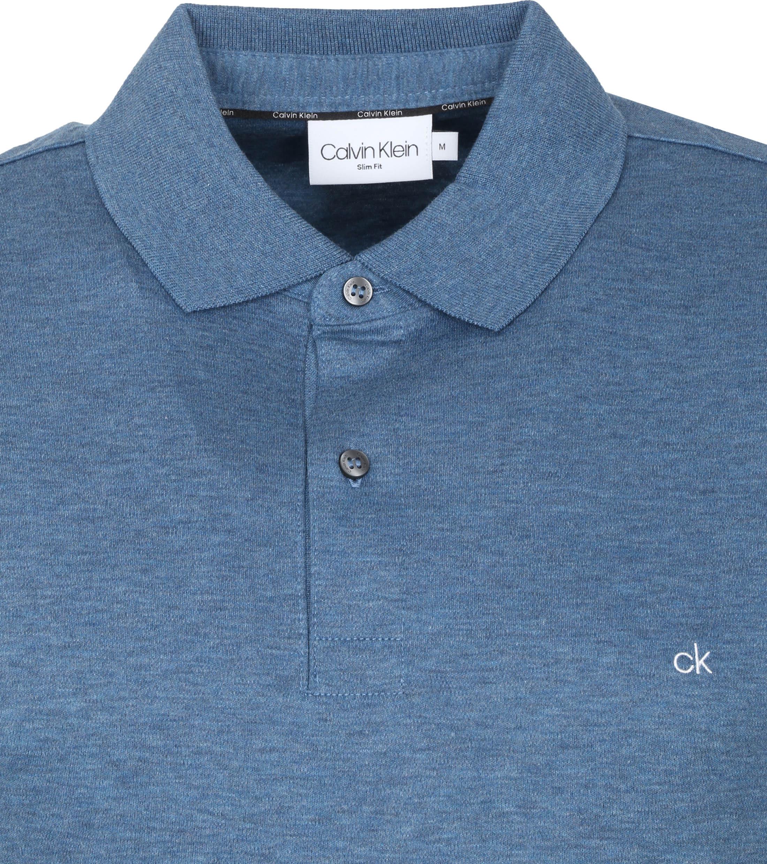 Calvin Klein Polo Slim Blauw