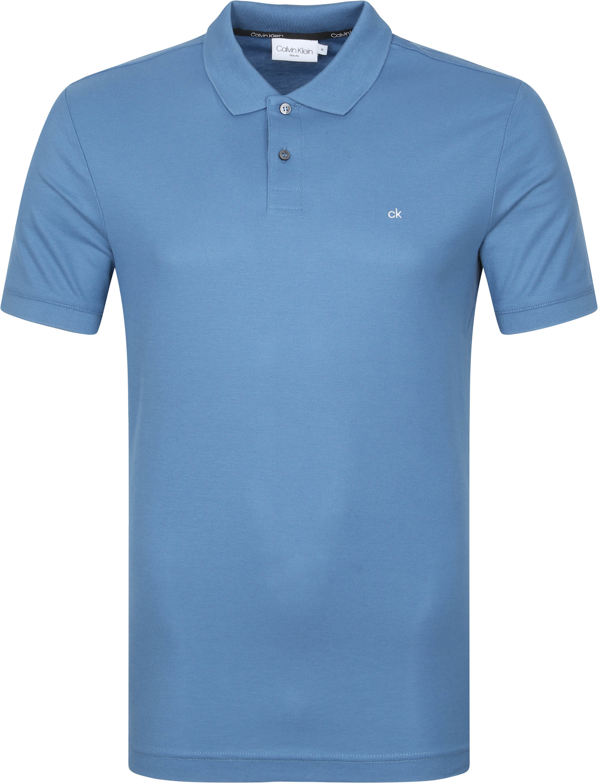 Calvin Klein Polo Slim Logo Blauw