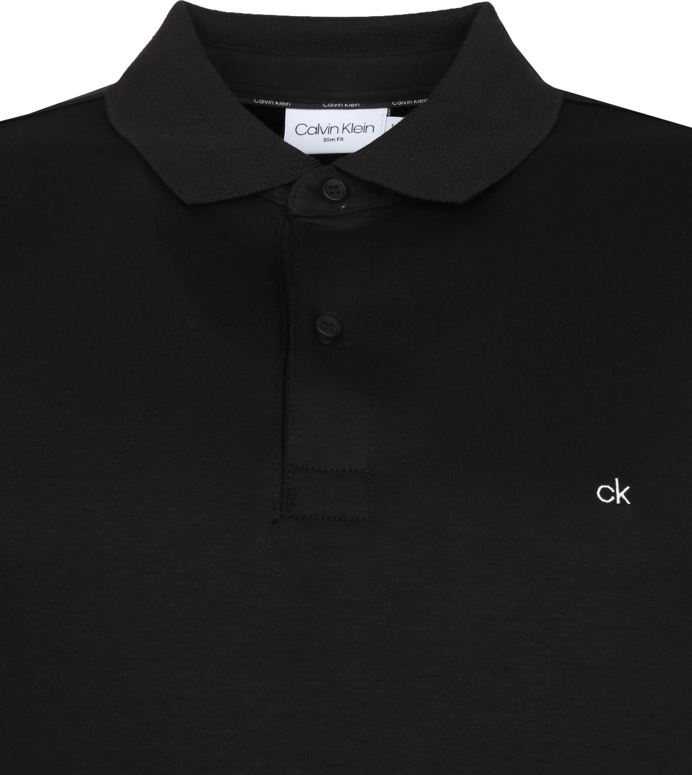 Calvin Klein Polo Slim Zwart