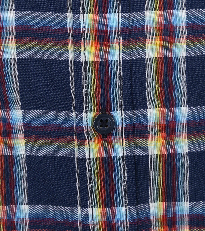 Casa Moda Casual Shirt Pane Dark Blue
