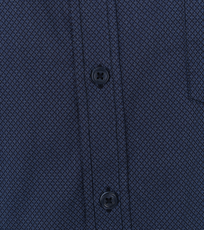 Casa Moda Organic Overhemd Microprint Donkerblauw