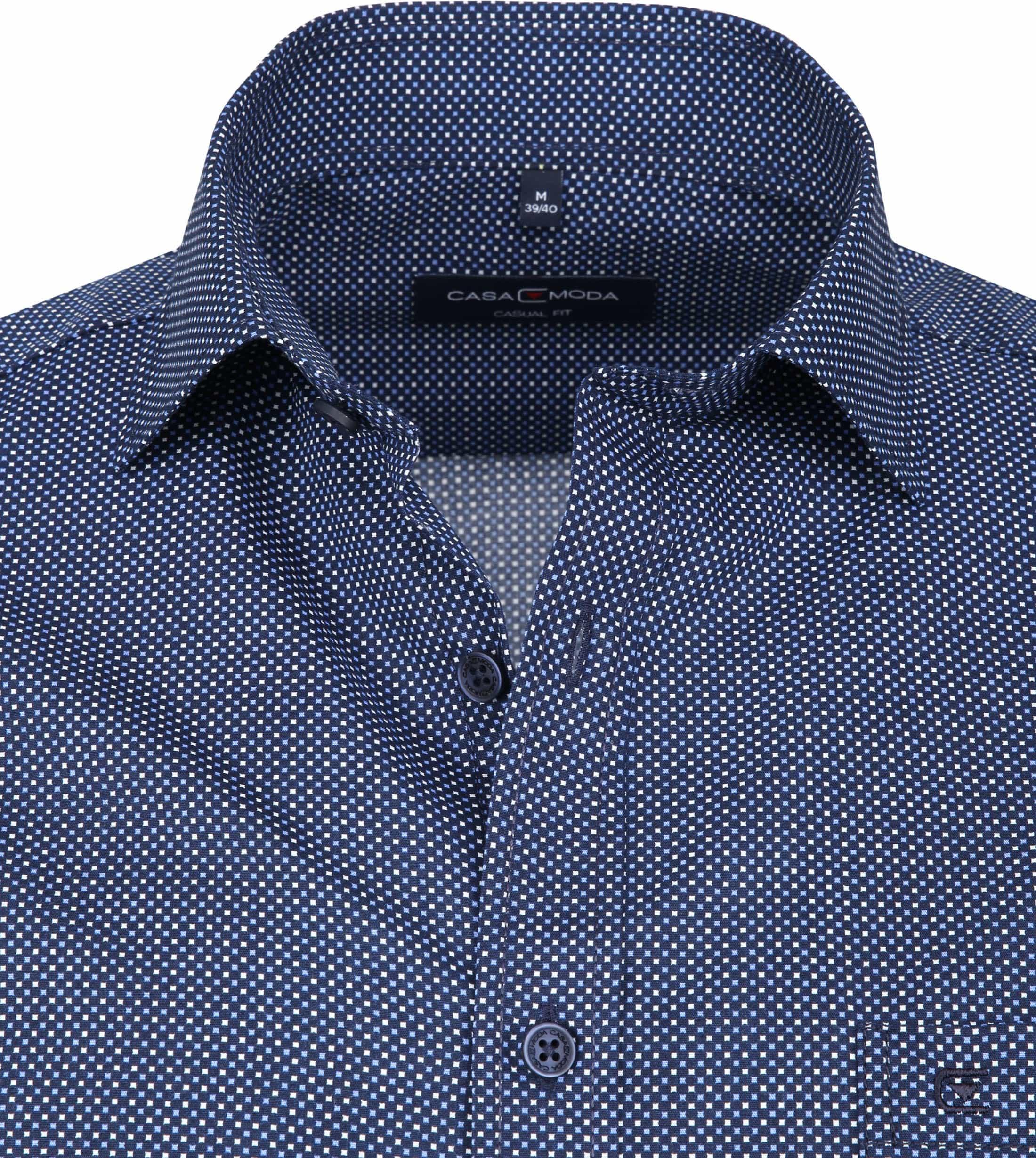 Casa Moda Overhemd Navy Vierkanten foto 1