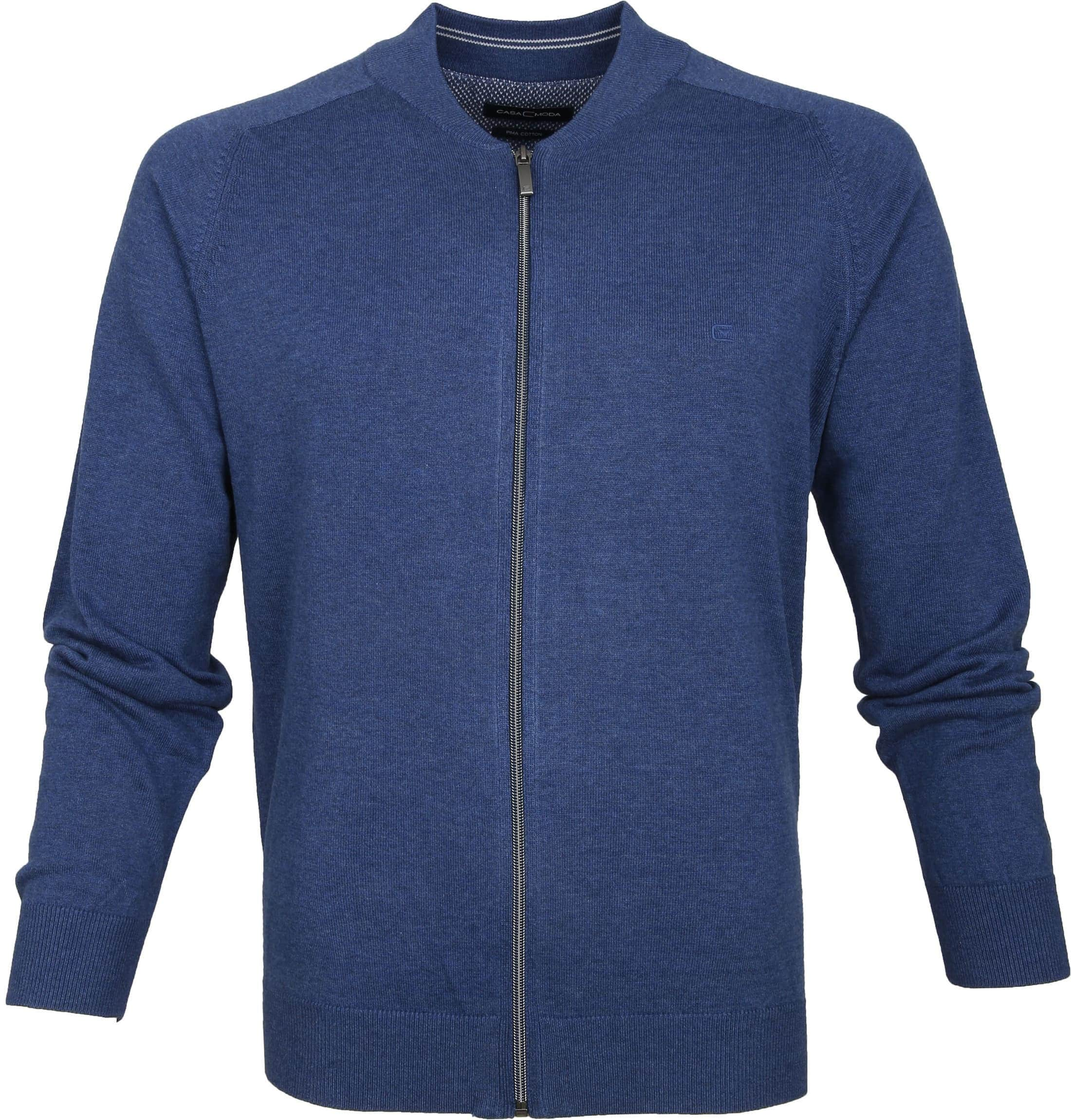 Casa Moda Pullover Zip Blue