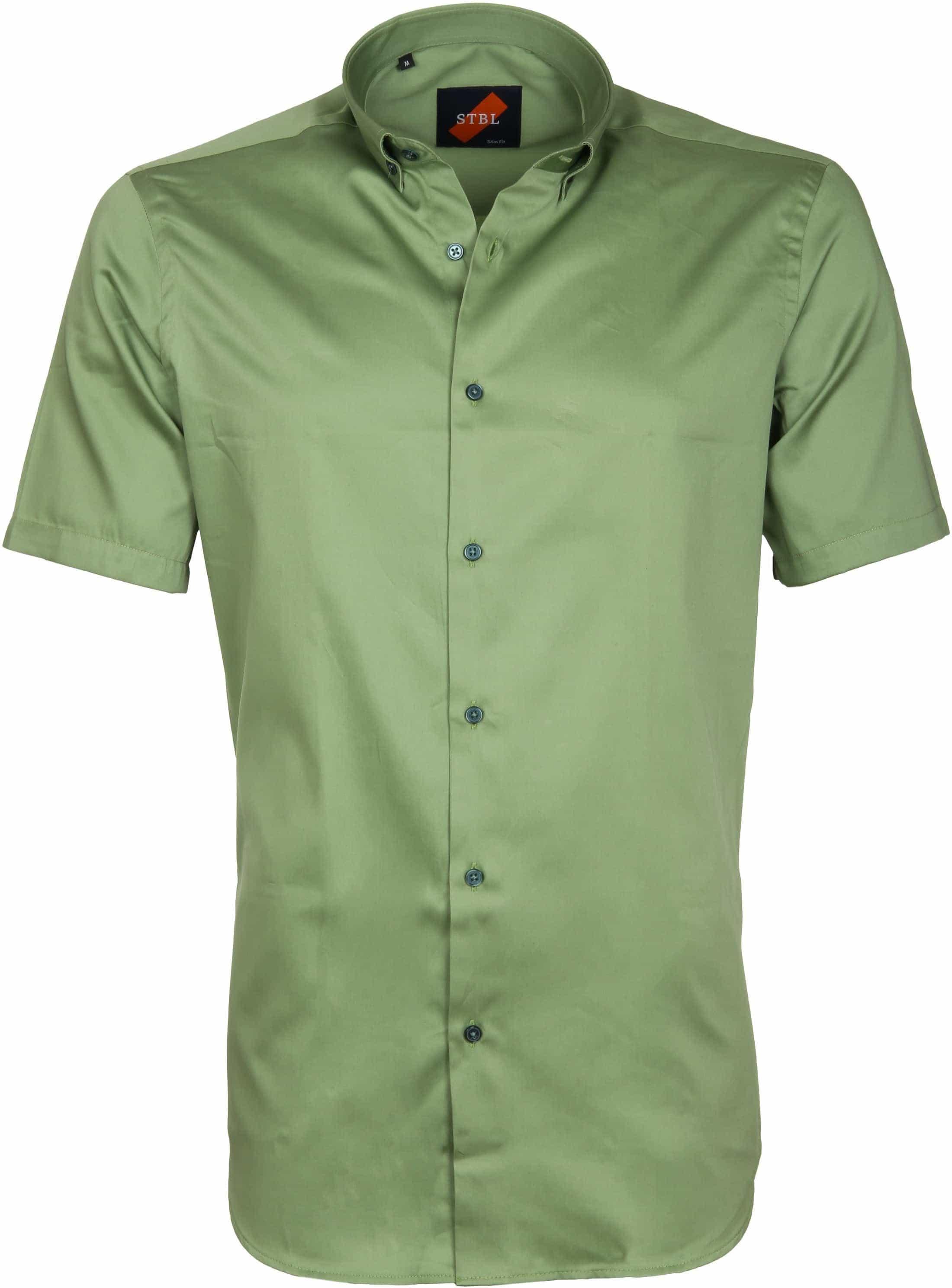 Overhemd Mintgroen.Casual Overhemd Basic Groen S4km 03 Green Satin Online Bestellen