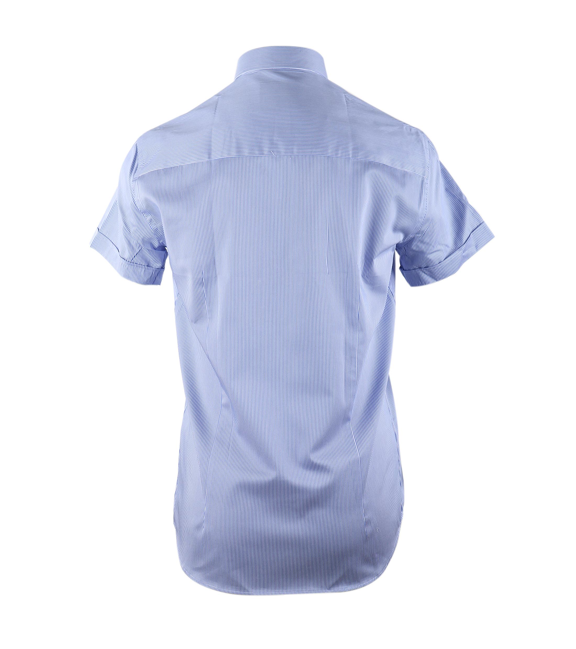 Casual Overhemd S3-6 Blauw Wit foto 3