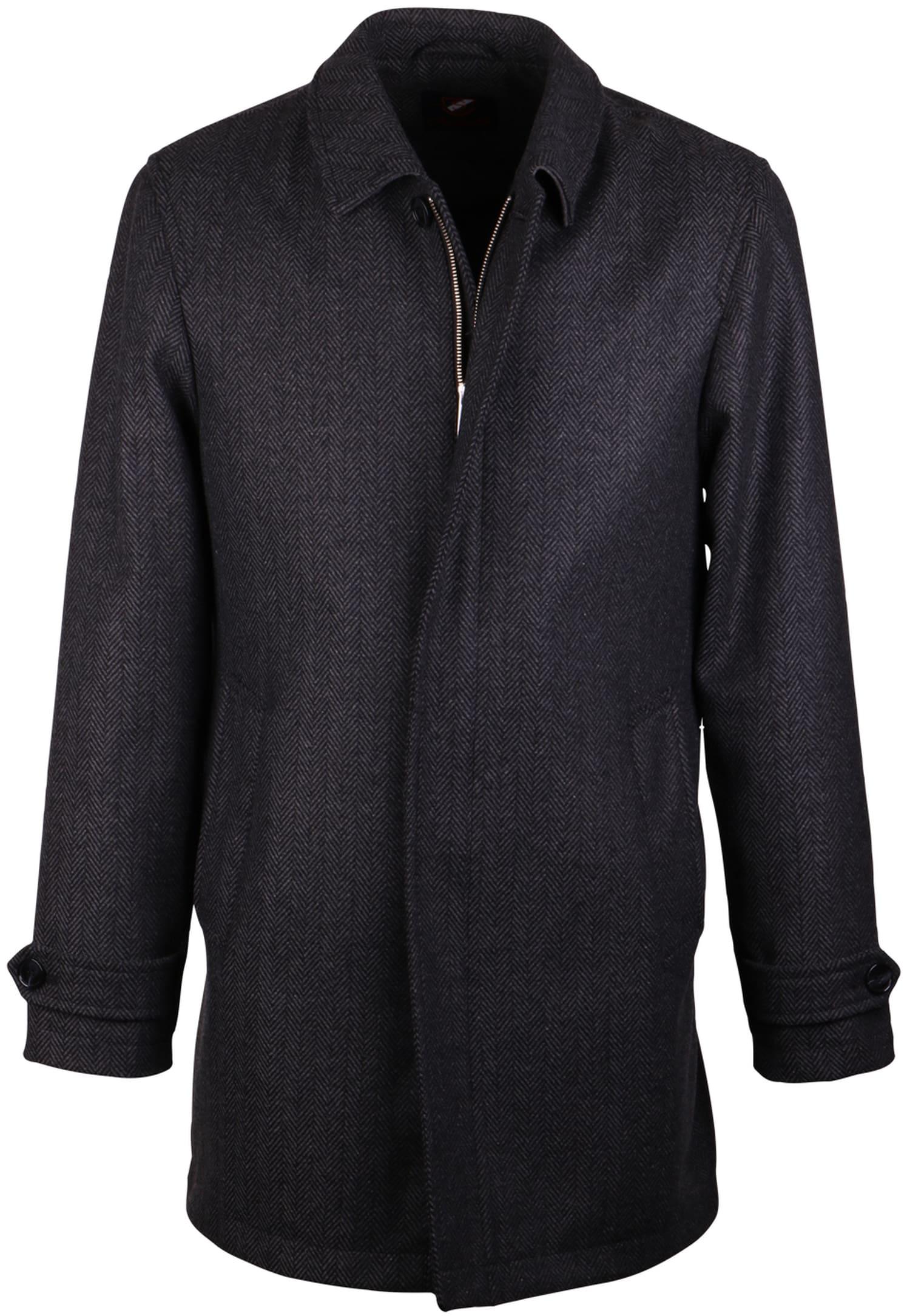 Coat Anthony Herringbone Antraciet foto 0