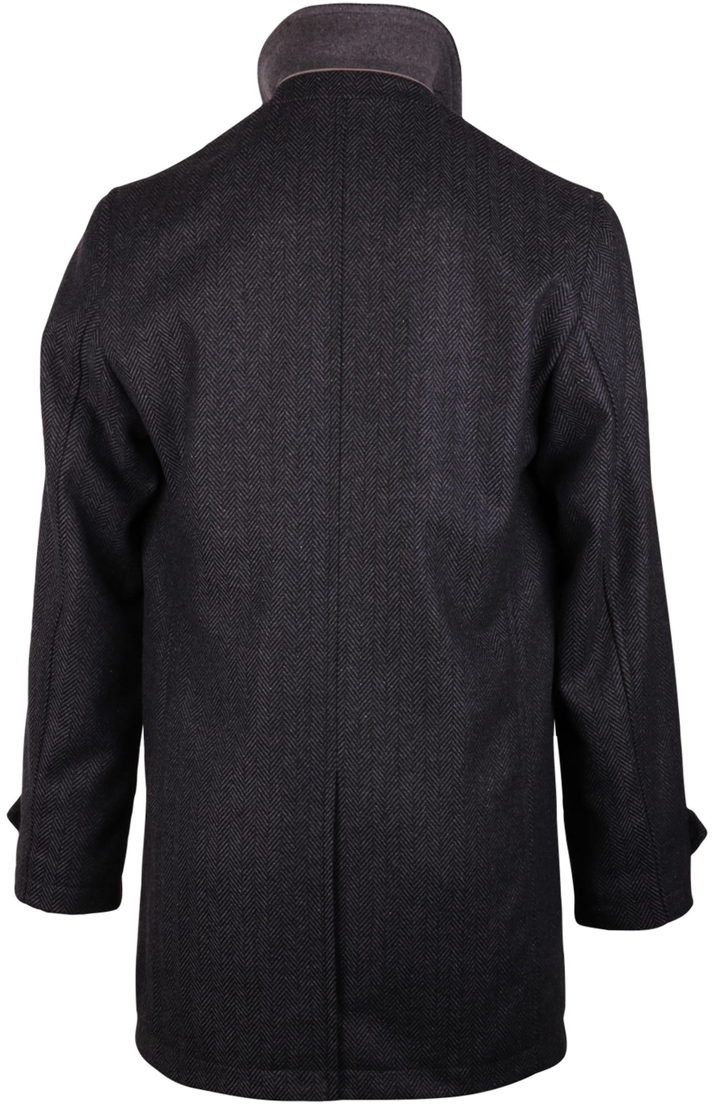 Coat Anthony Herringbone Antraciet foto 1