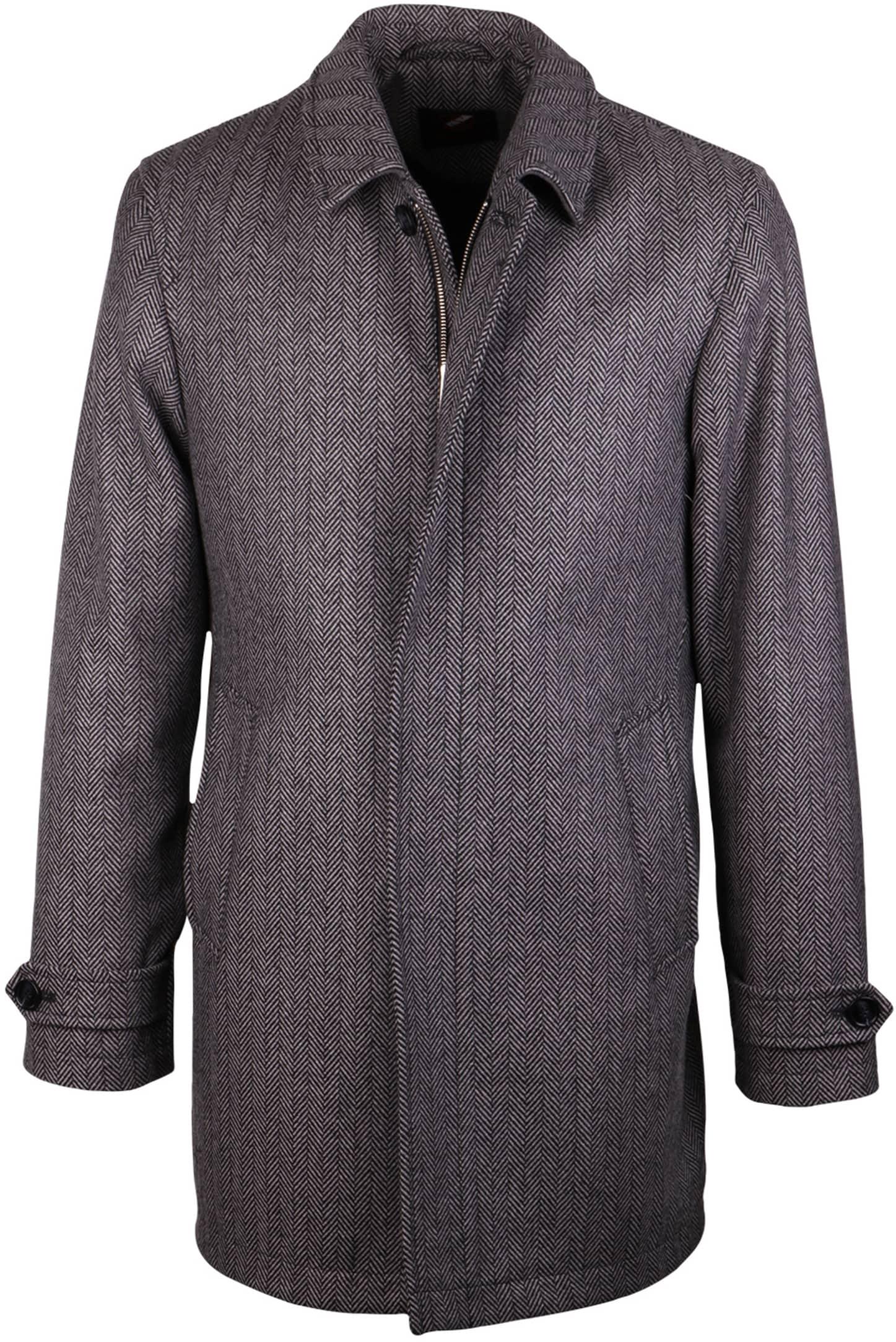 Coat Anthony Herringbone Grey foto 0