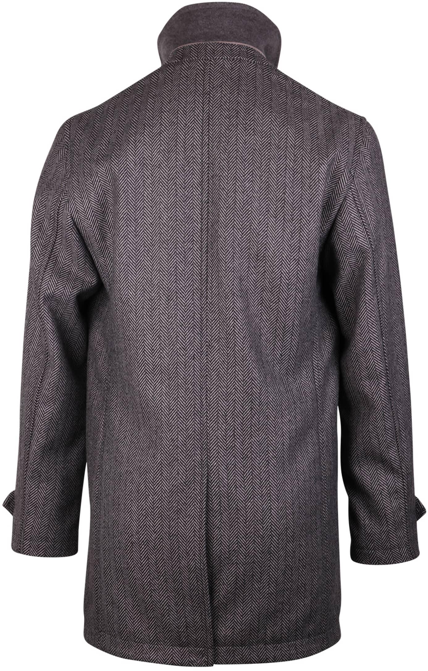 Coat Anthony Herringbone Grey foto 1