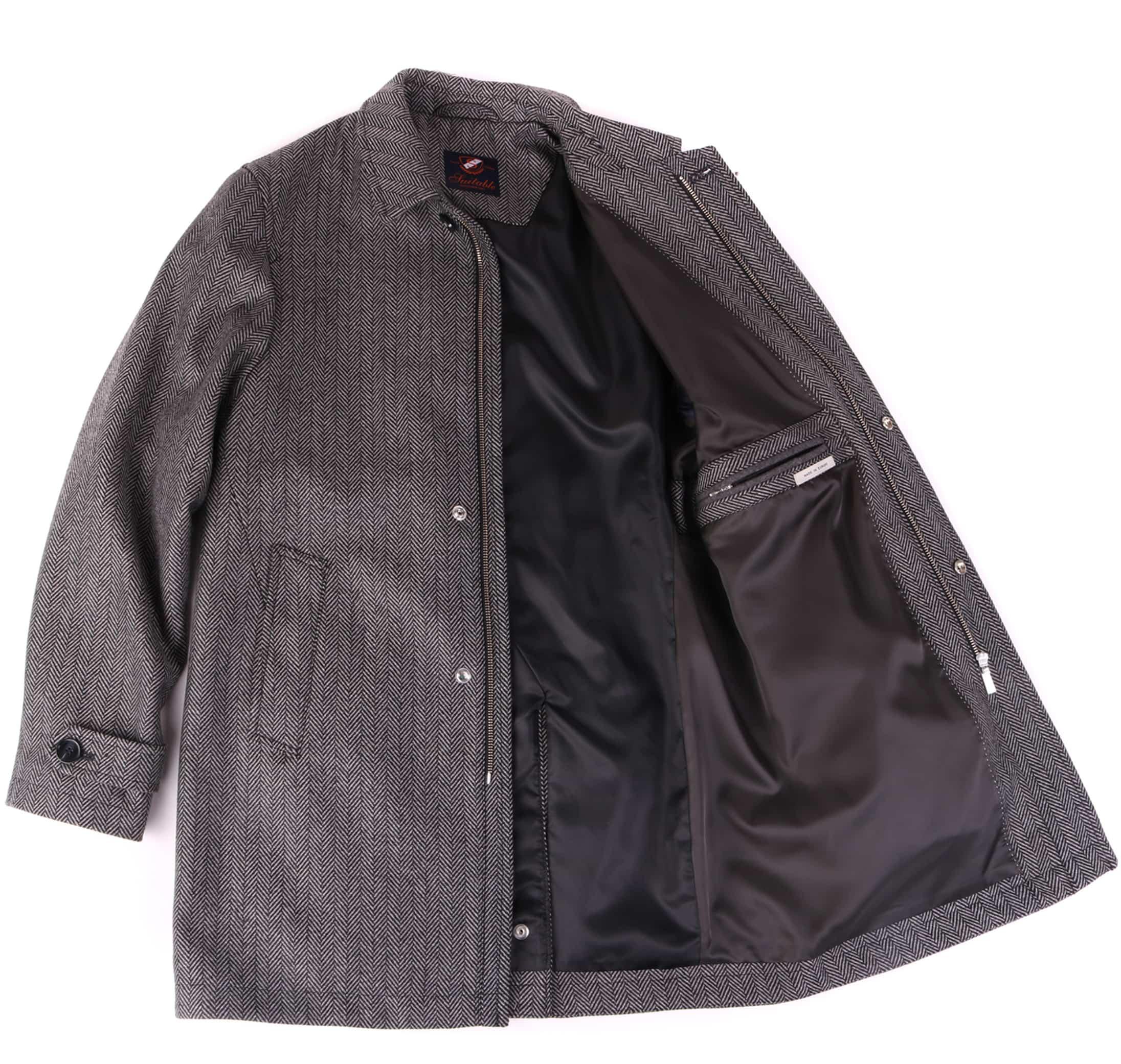 Coat Anthony Herringbone Grey foto 4