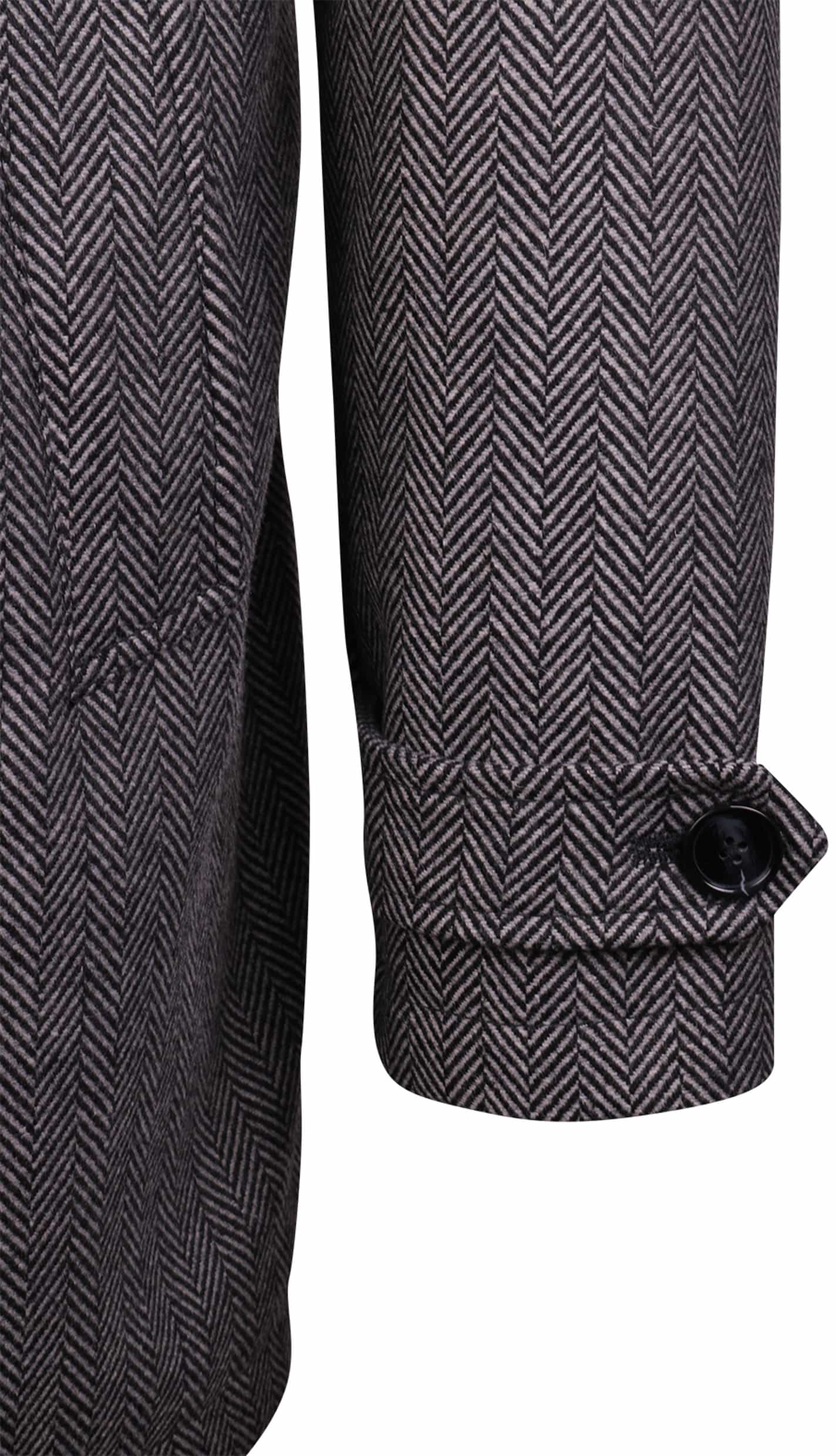 Coat Anthony Herringbone Grijs foto 2