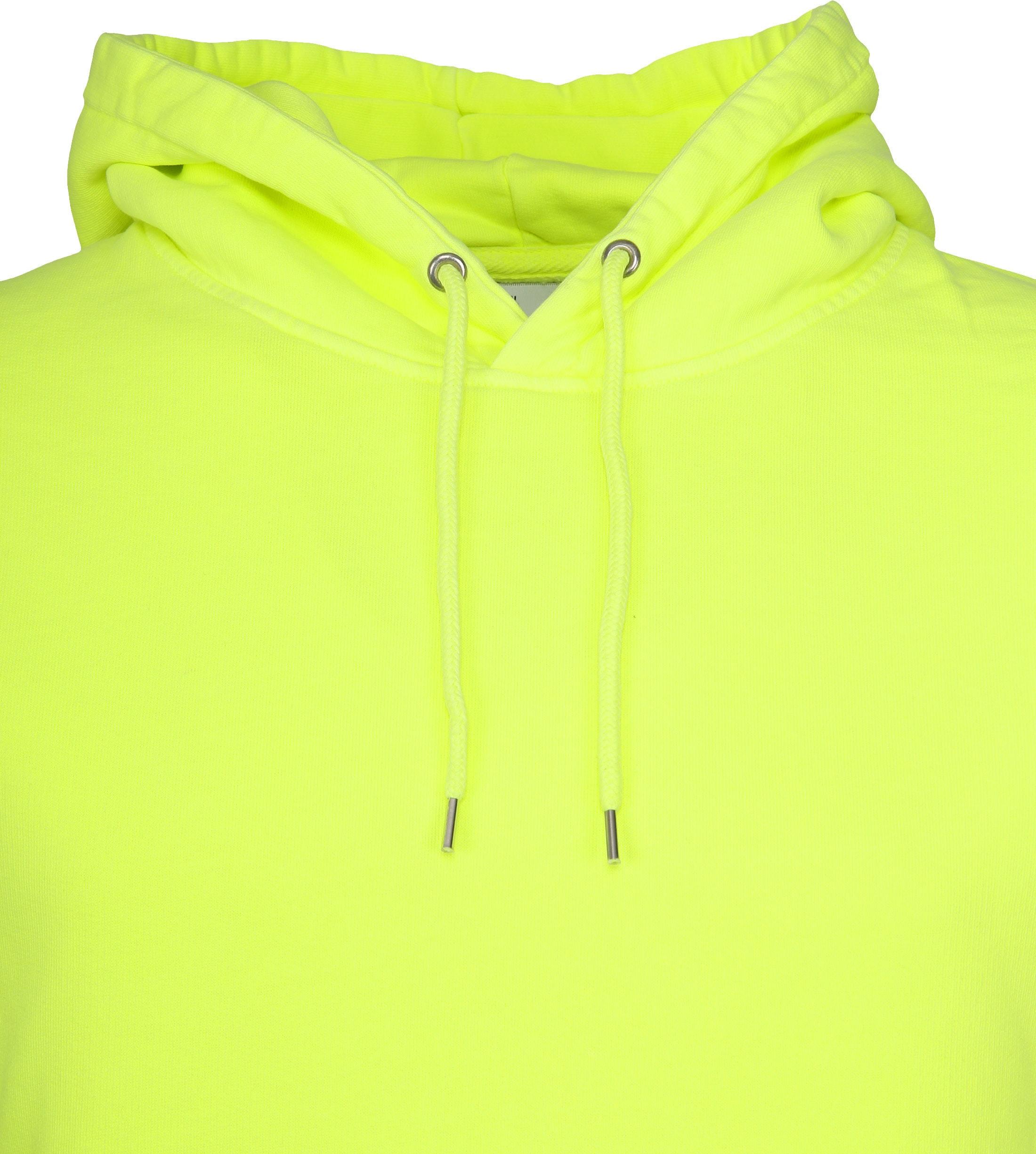 Colorful Standard Hoodie Neon Geel foto 1