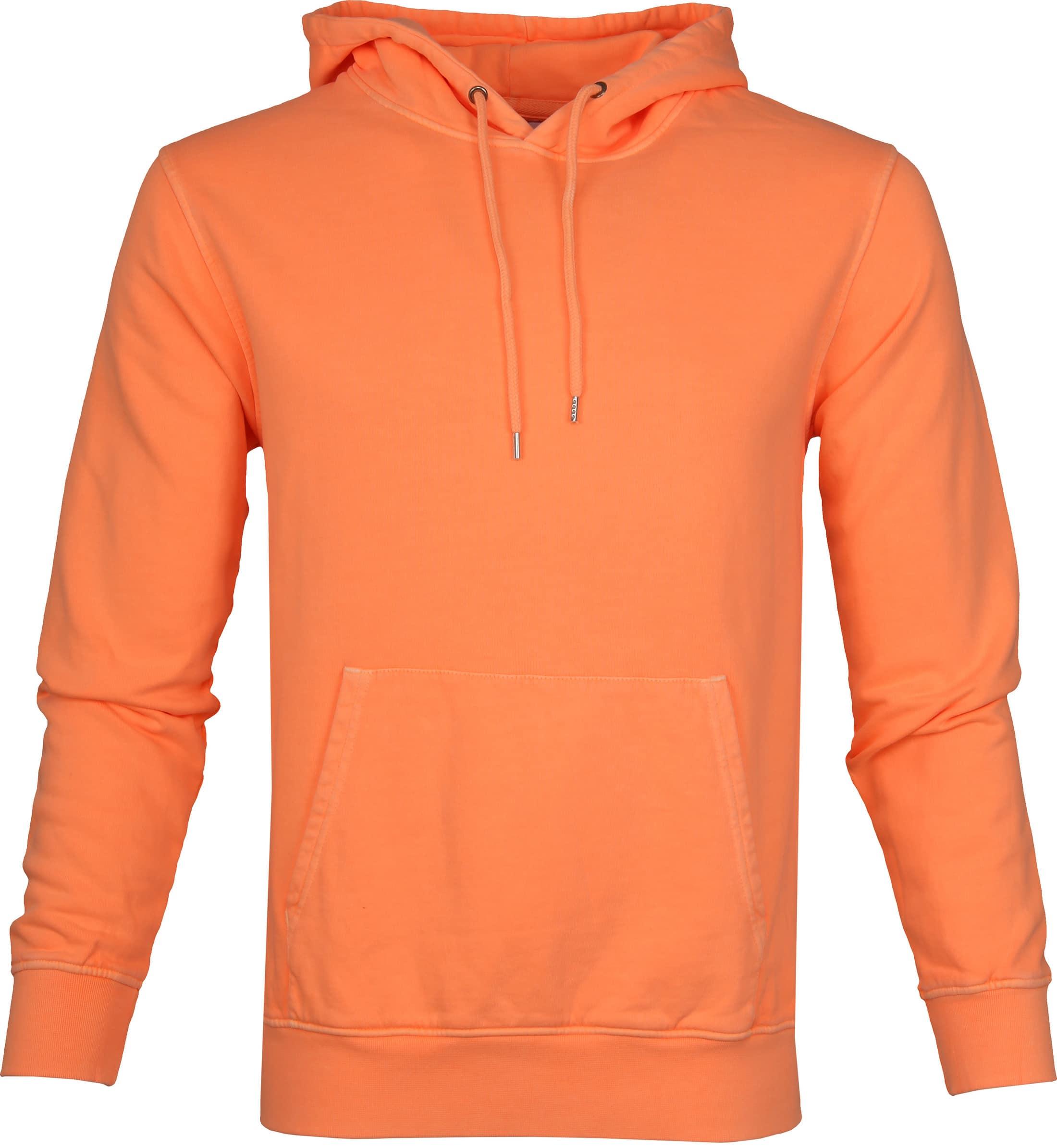 Colorful Standard Hoodie Neon Oranje foto 0