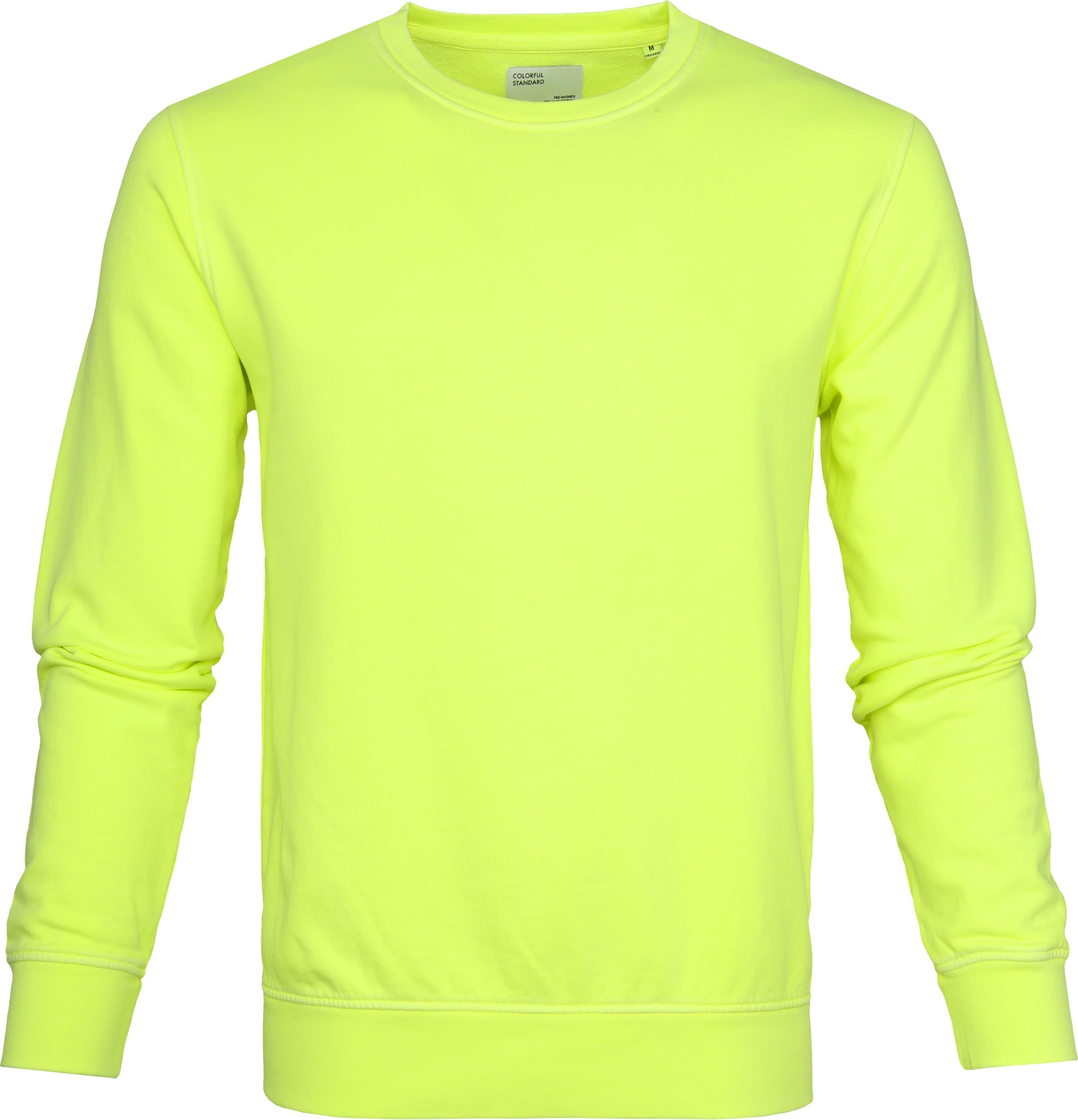 Colorful Standard Sweater Neon Geel foto 0
