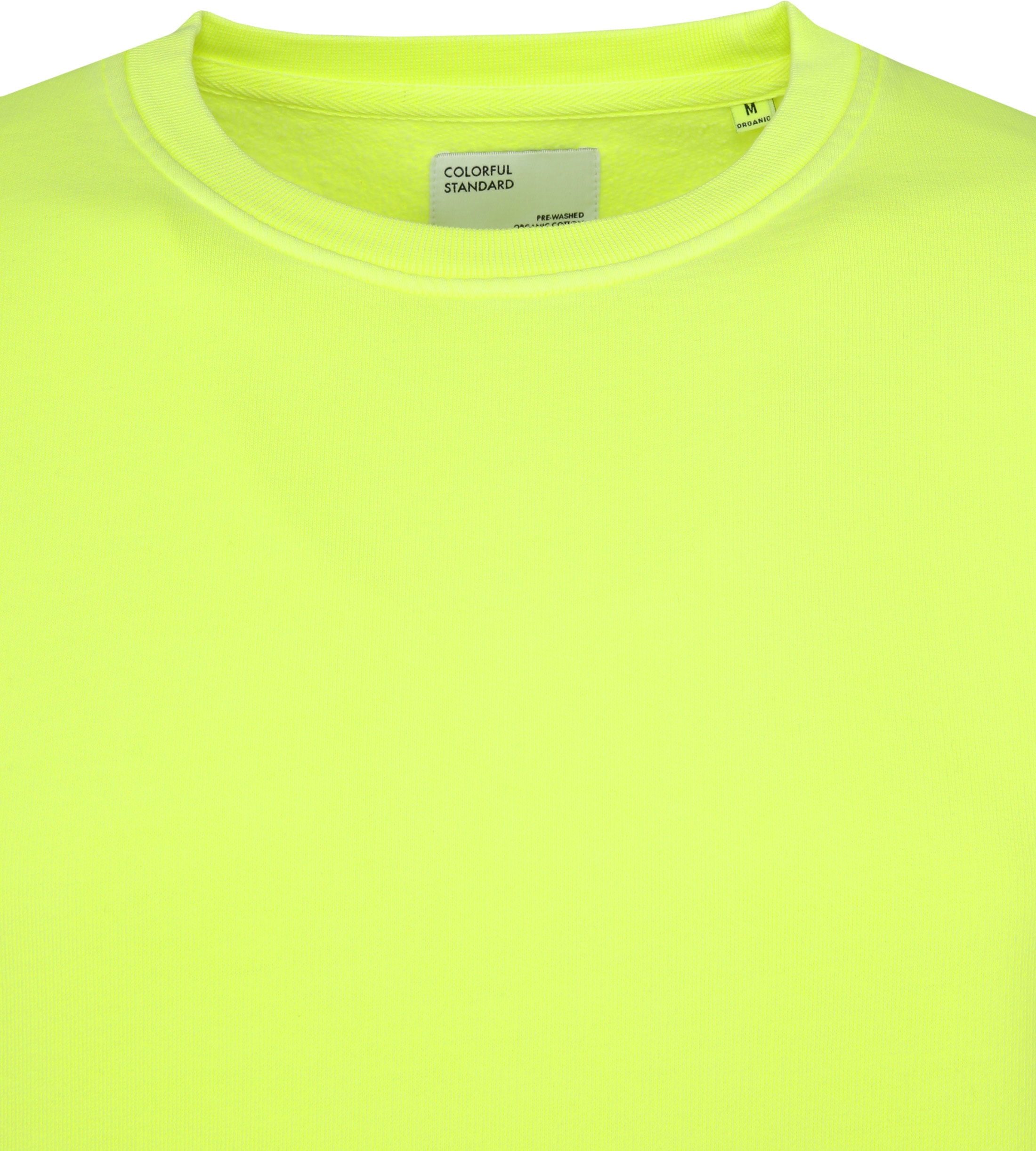 Colorful Standard Sweater Neon Geel foto 1