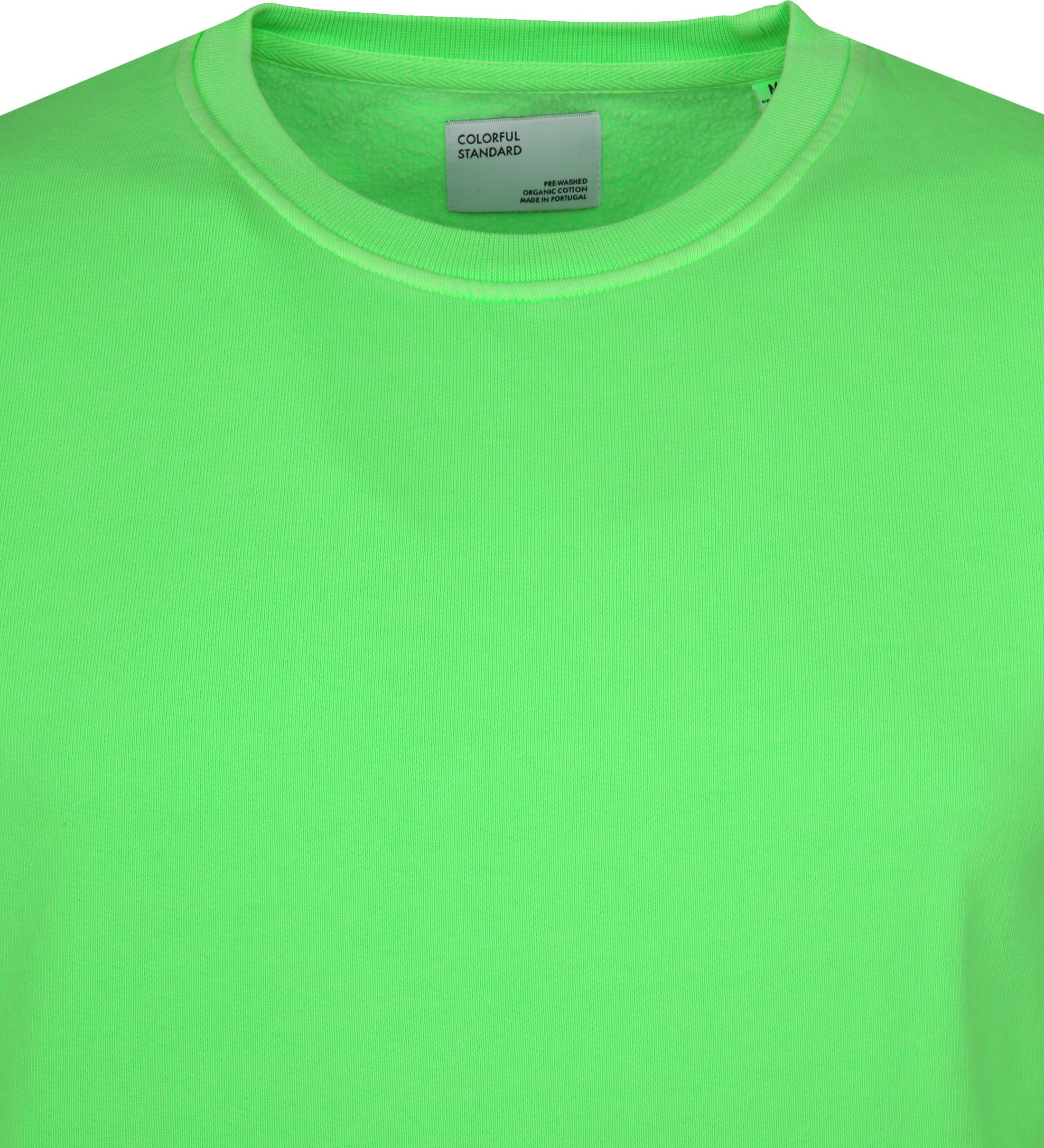 Colorful Standard Sweater Neon Groen foto 1