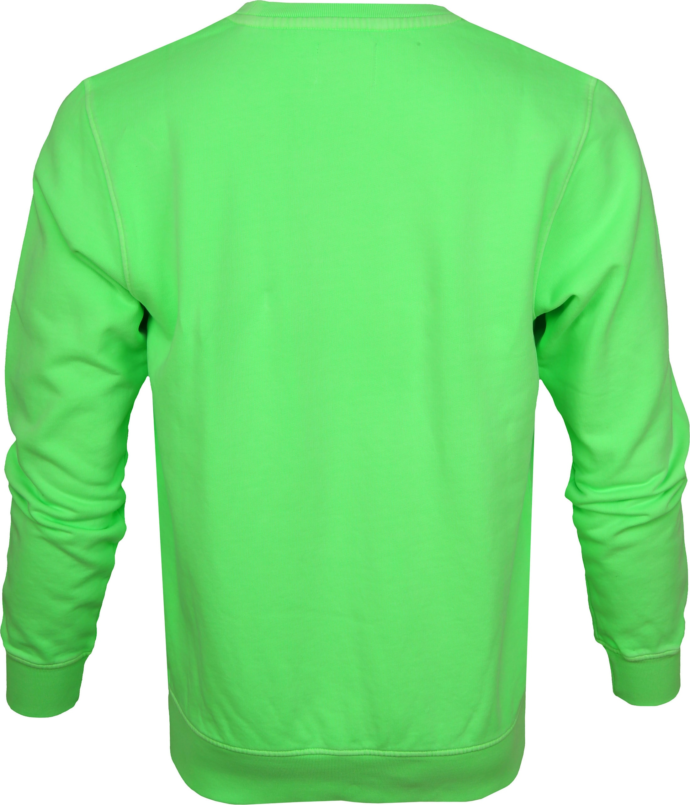 Colorful Standard Sweater Neon Groen foto 3