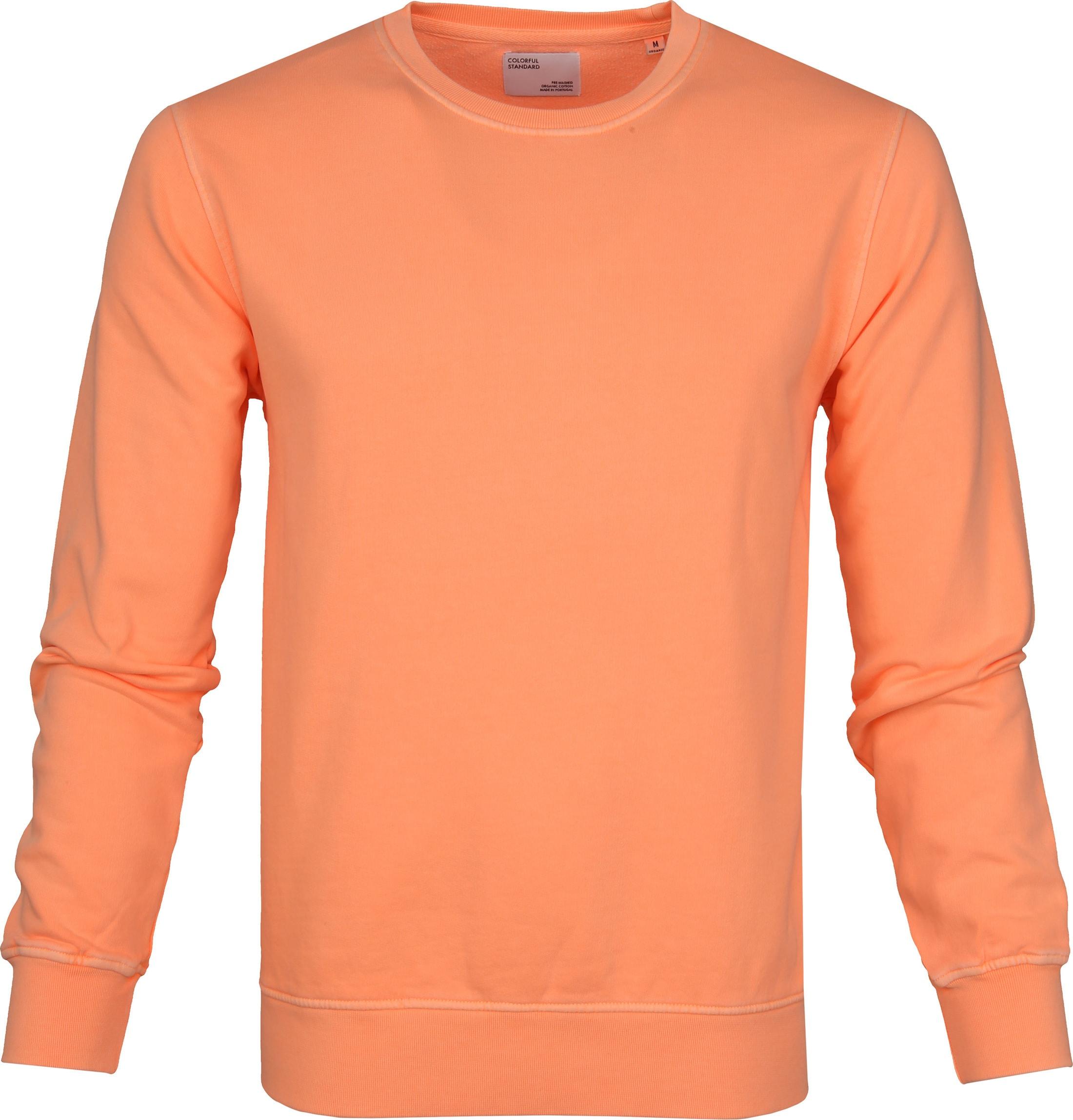 Colorful Standard Sweater Neon Oranje foto 0