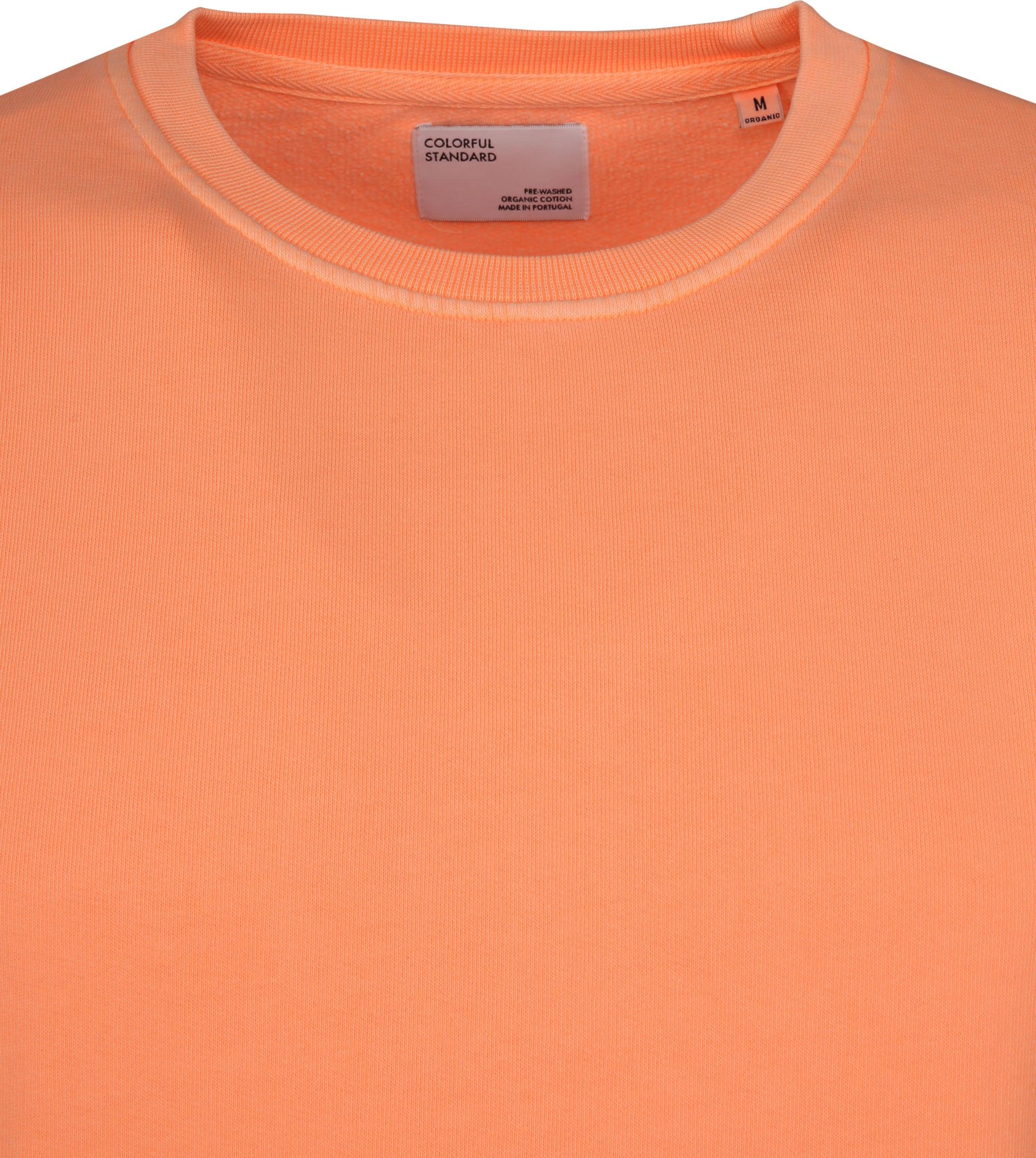 Colorful Standard Sweater Neon Oranje foto 1