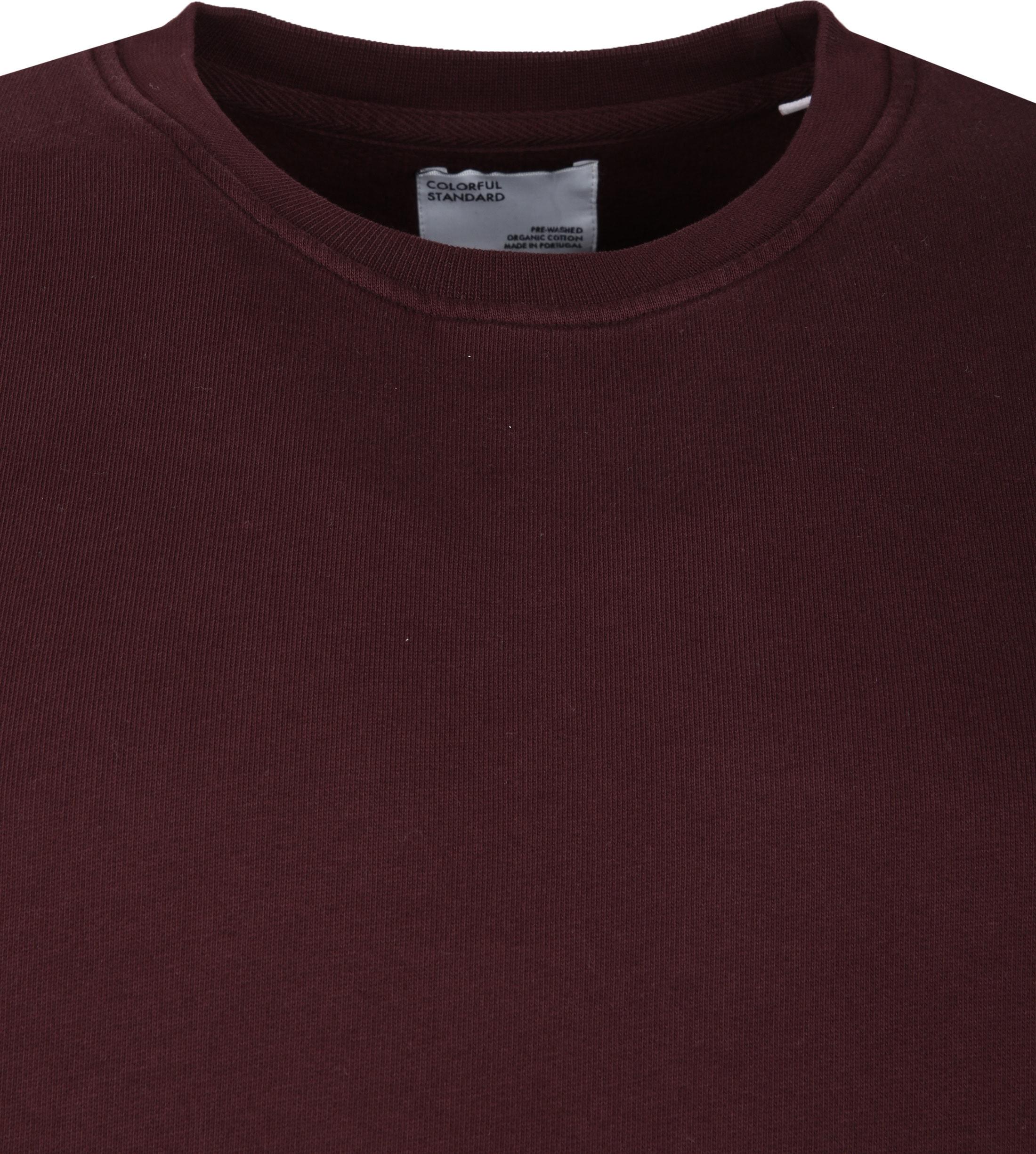 Colorful Standard Sweater Organic Bordeaux foto 1
