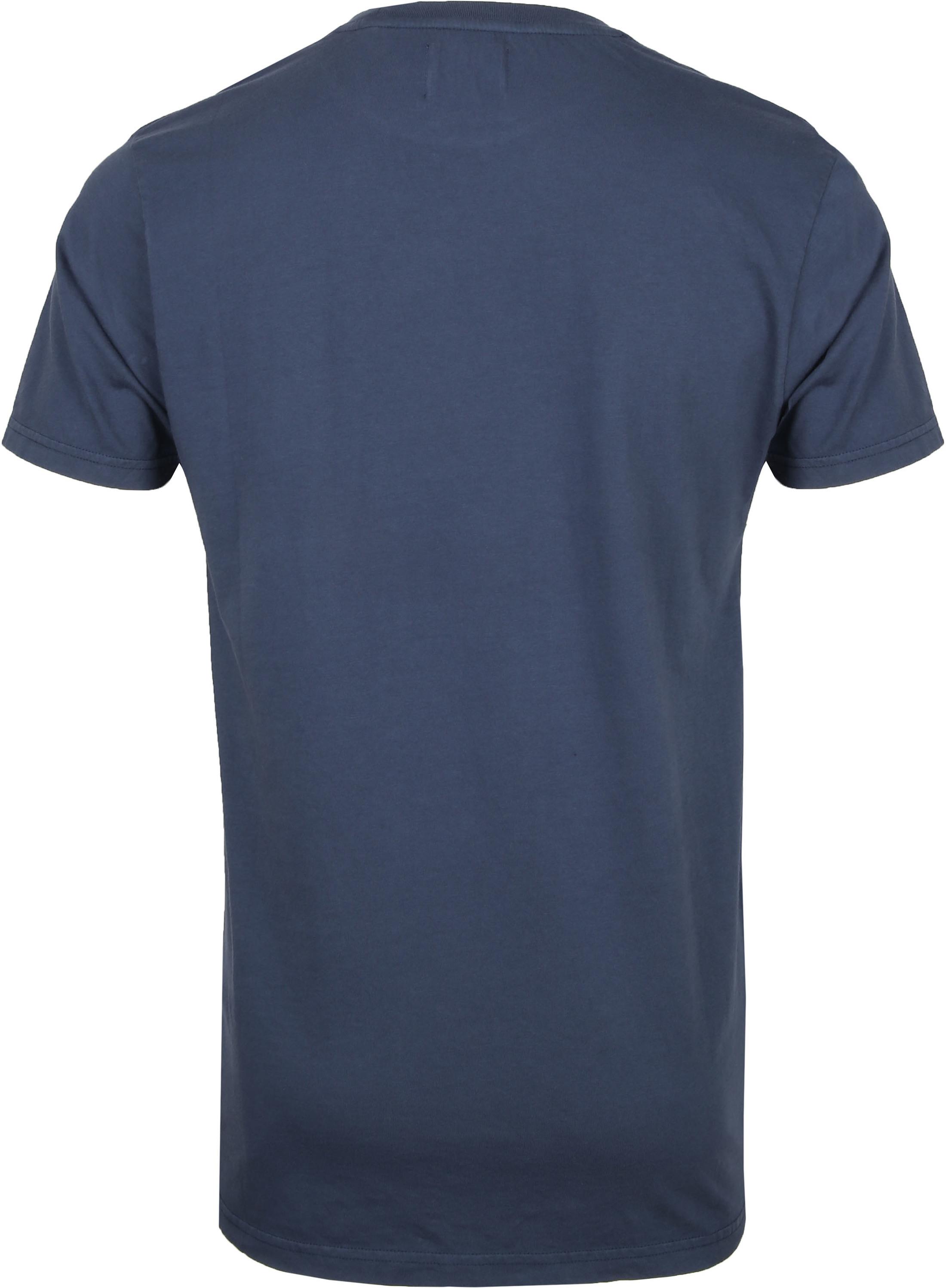 Colorful Standard T-shirt Blauw - Blauw maat XL