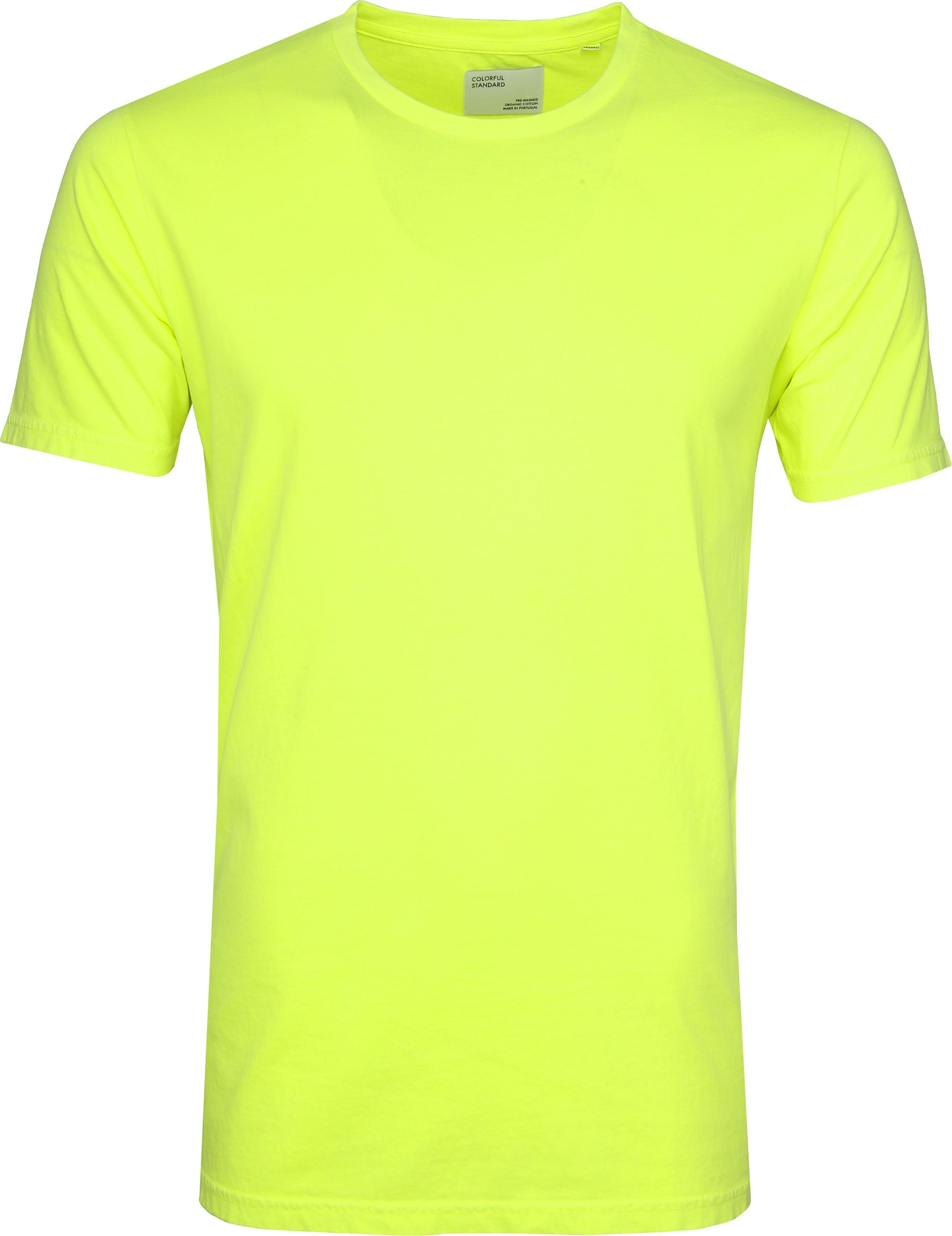 Colorful Standard T-shirt Neon Geel foto 0