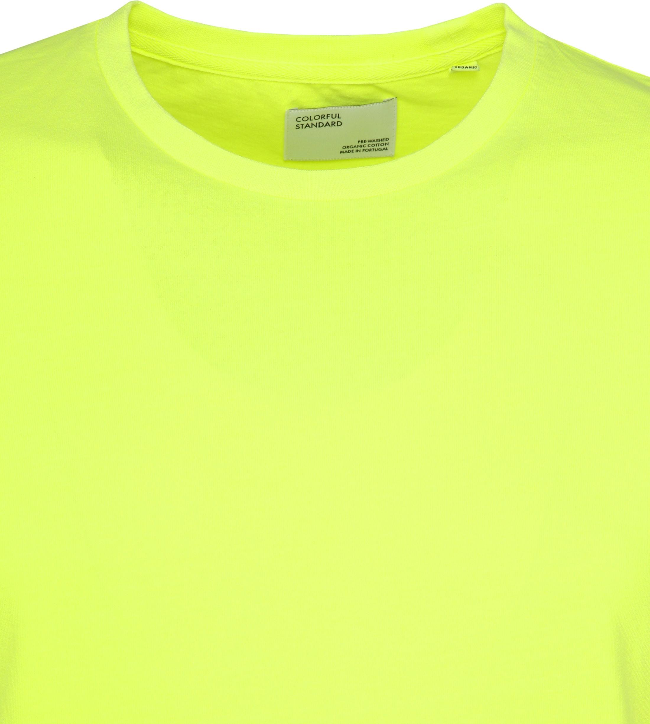 Colorful Standard T-shirt Neon Geel foto 2