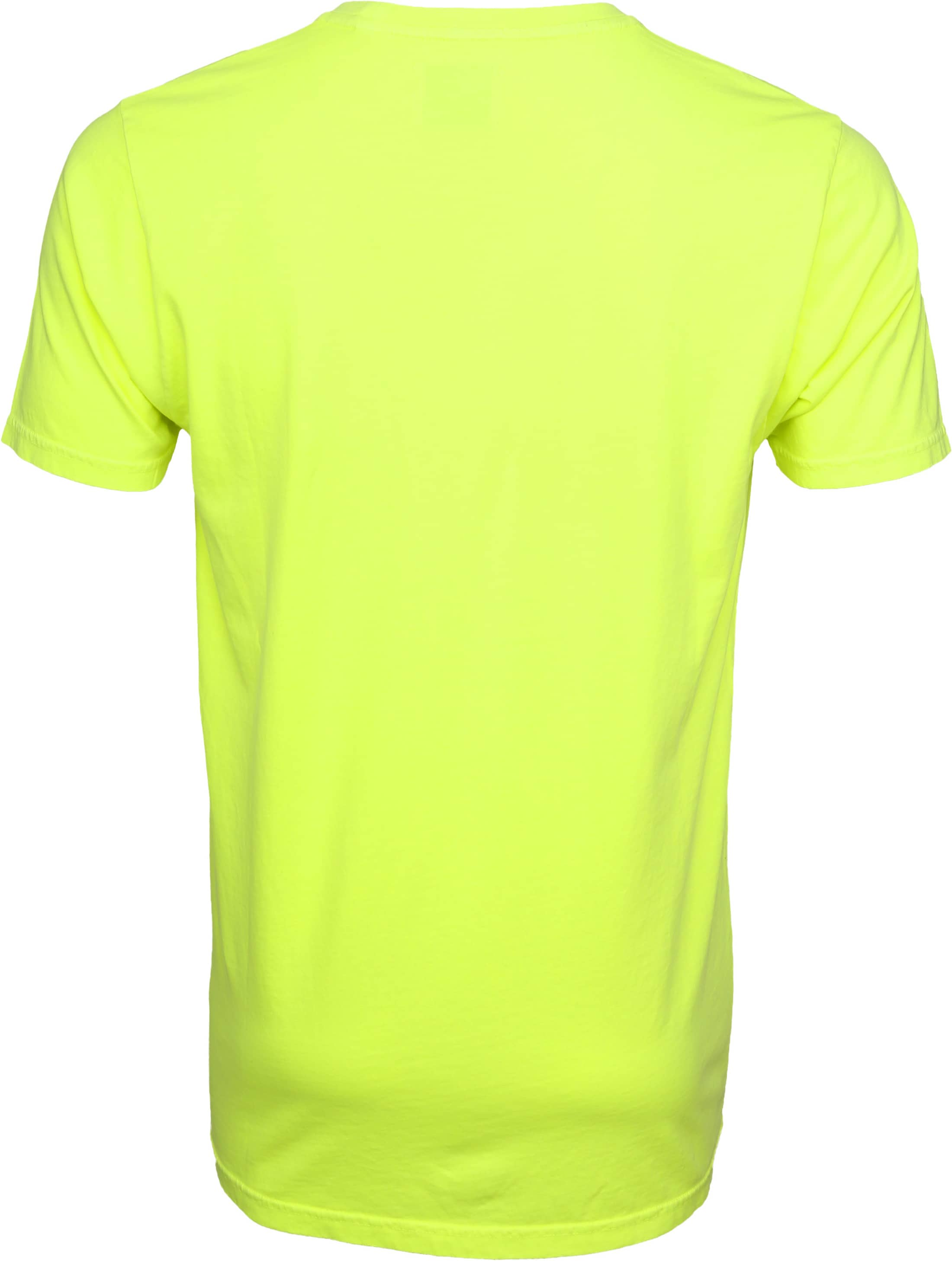 Colorful Standard T-shirt Neon Geel foto 3