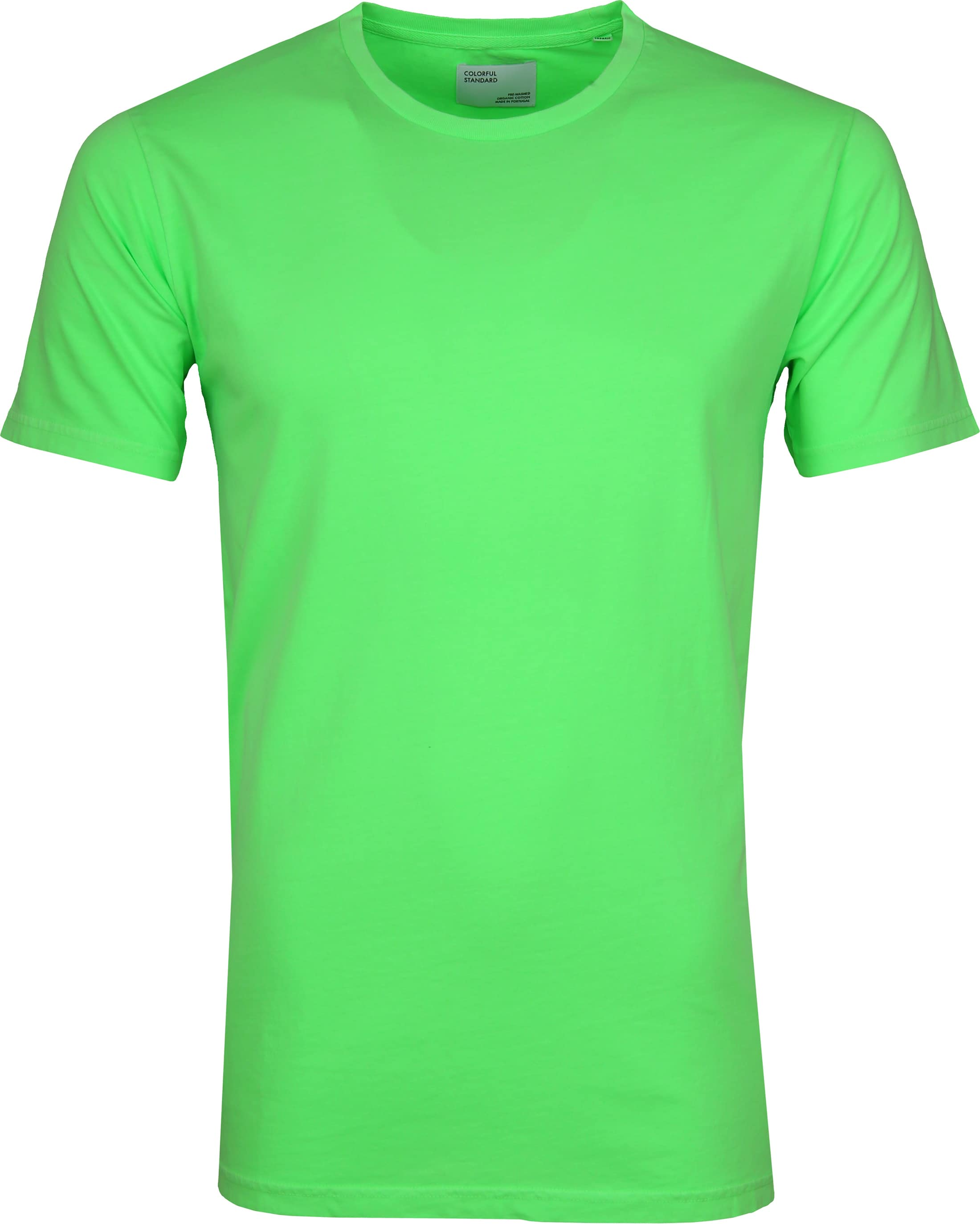 Colorful Standard T-shirt Neon Groen foto 0