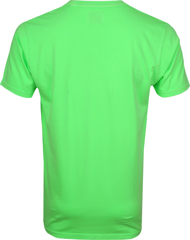 Colorful Standard T-shirt Neon Groen foto 3