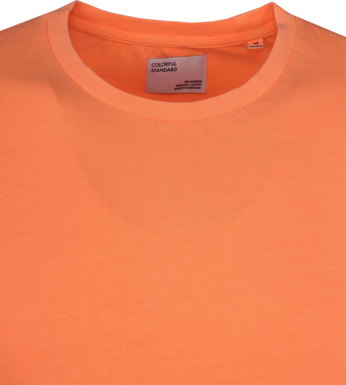 Colorful Standard T-shirt Neon Orange foto 1