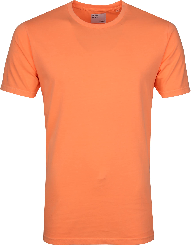 Colorful Standard T-shirt Neon Oranje foto 0