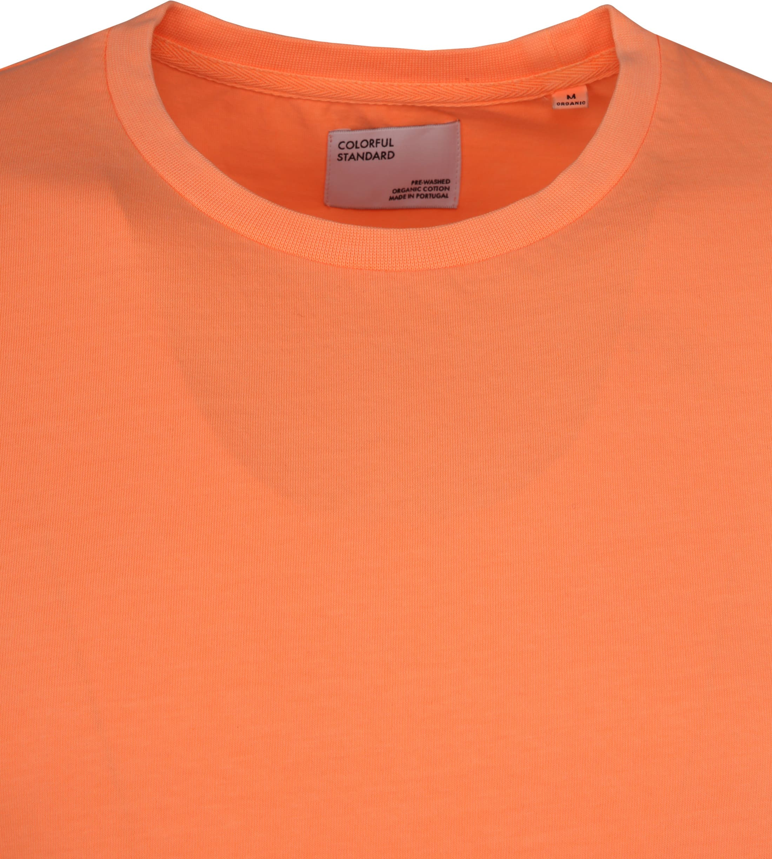 Colorful Standard T-shirt Neon Oranje foto 1