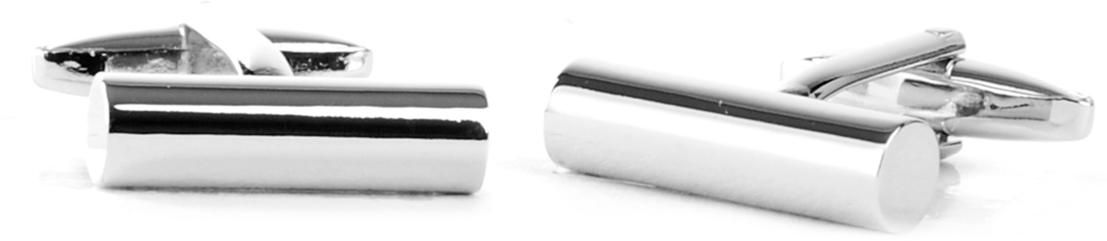 Cufflinks Silver Massive Pipe