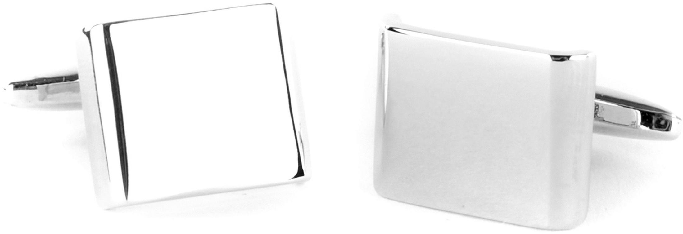 Cufflinks Silver Rectangle