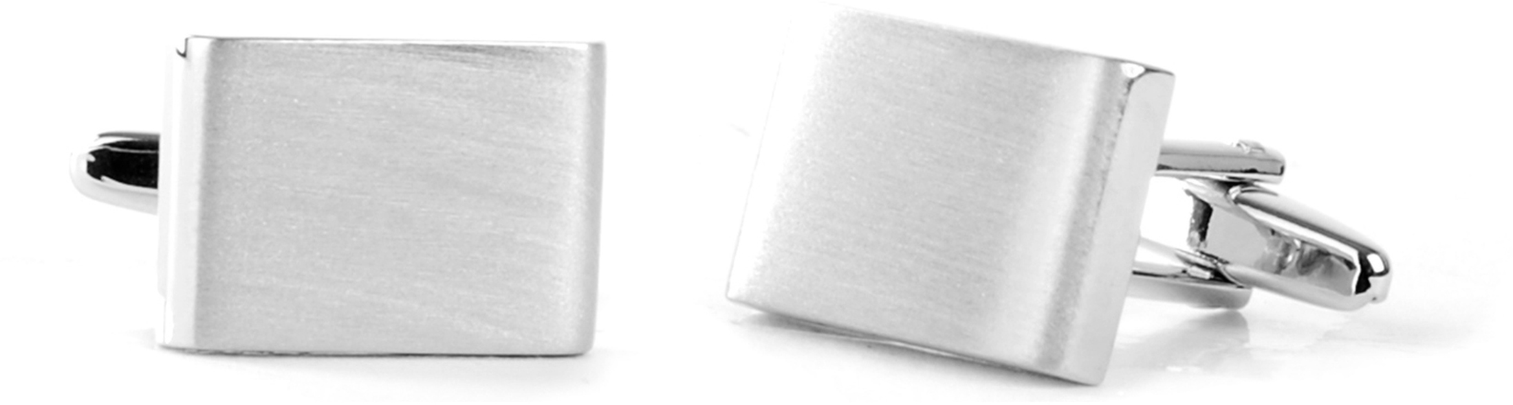 Cufflinks Silver Square Thick foto 0