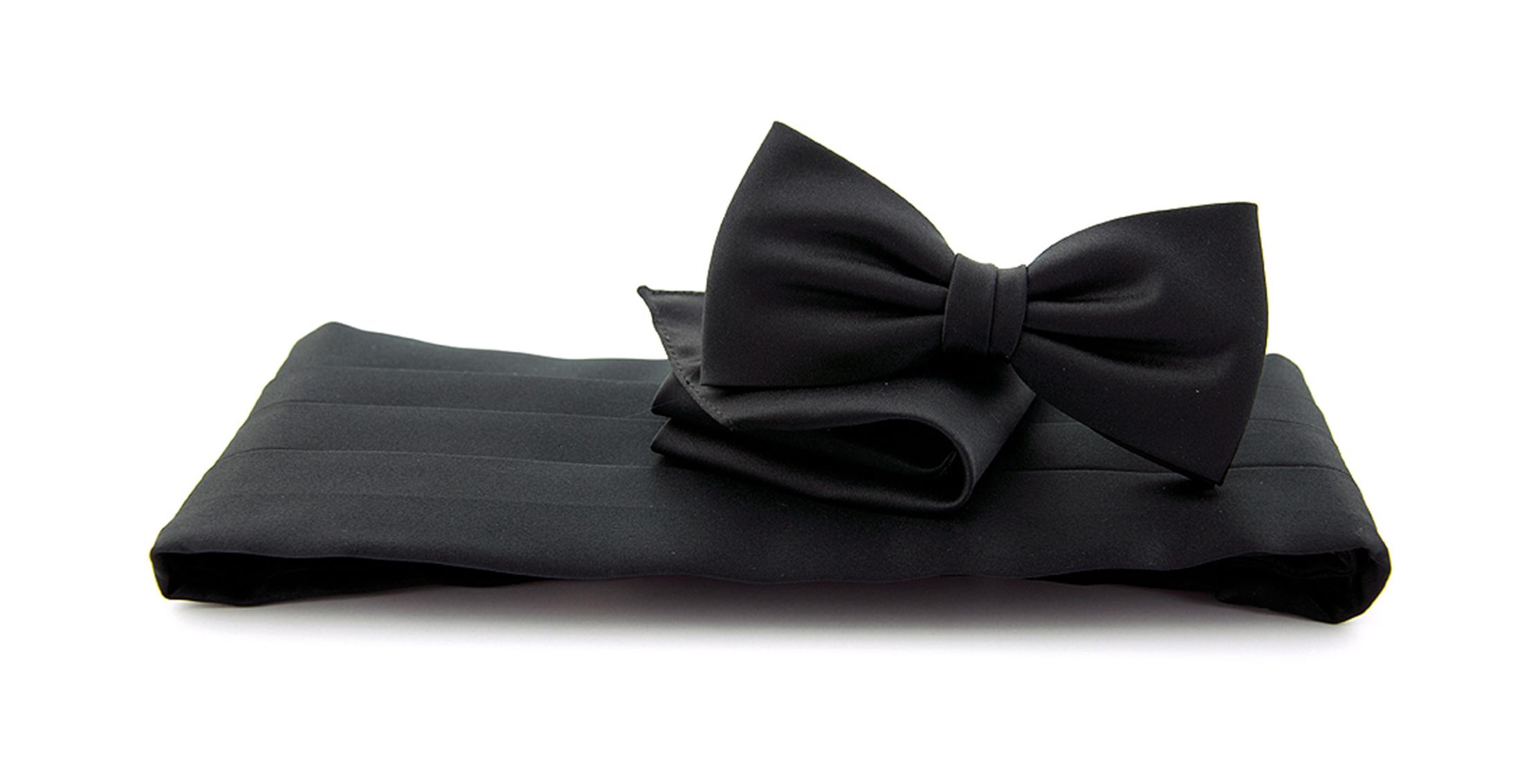 Cumberband + Bow Tie Black photo 0