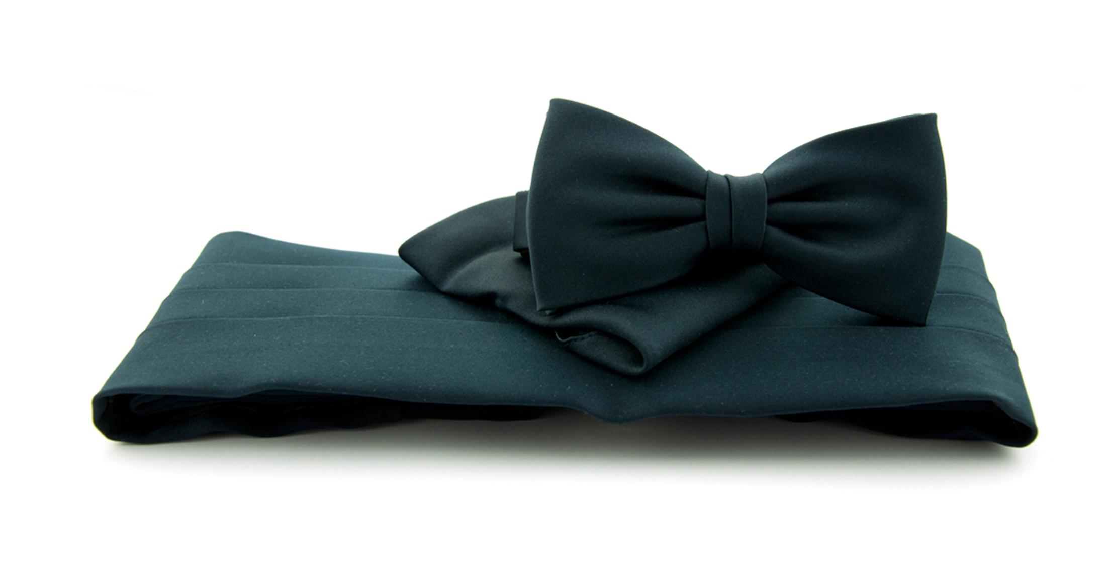 Cumberband + Bow Tie Dark Blue foto 0