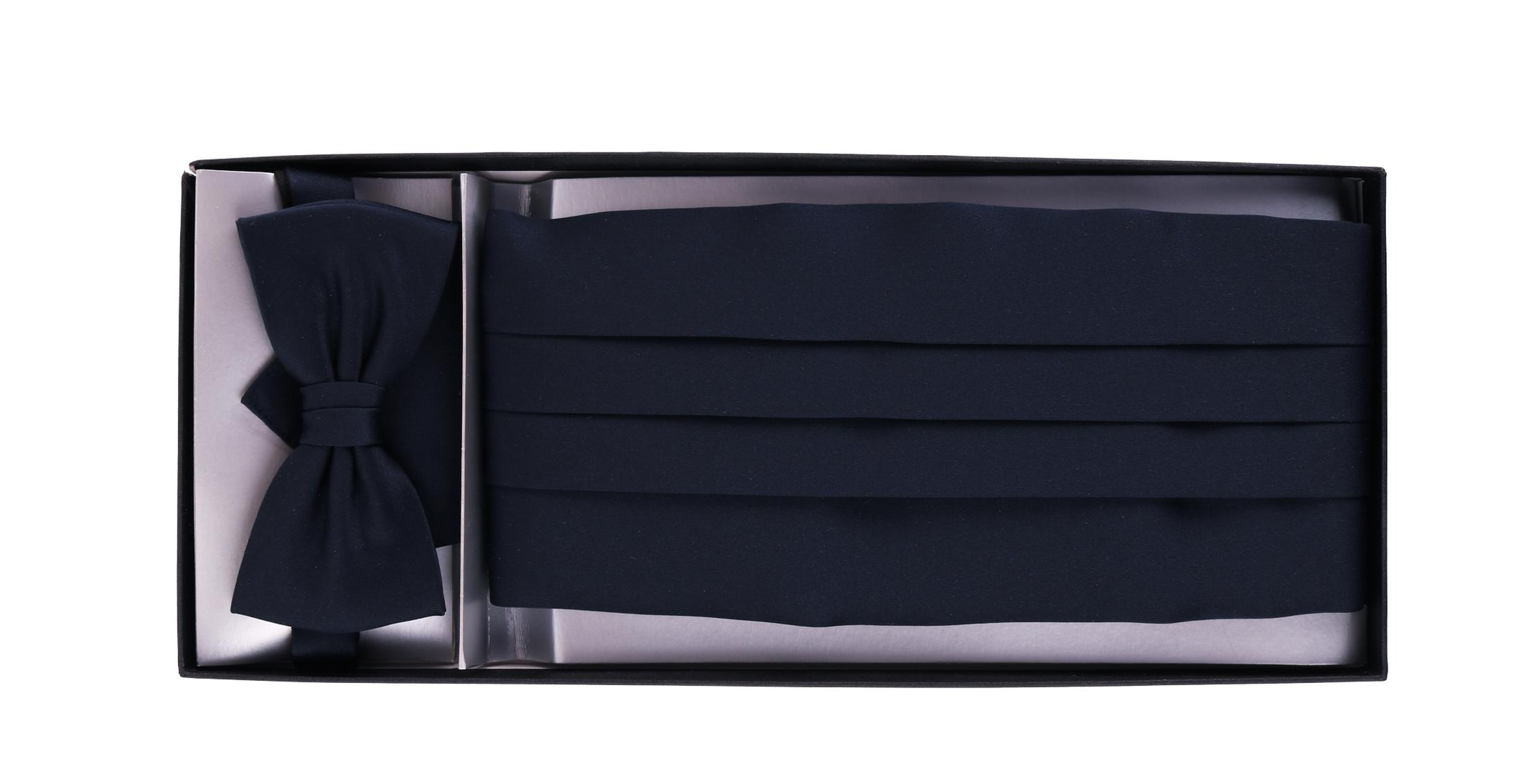 Cumberband + Bow Tie Dark Blue foto 1