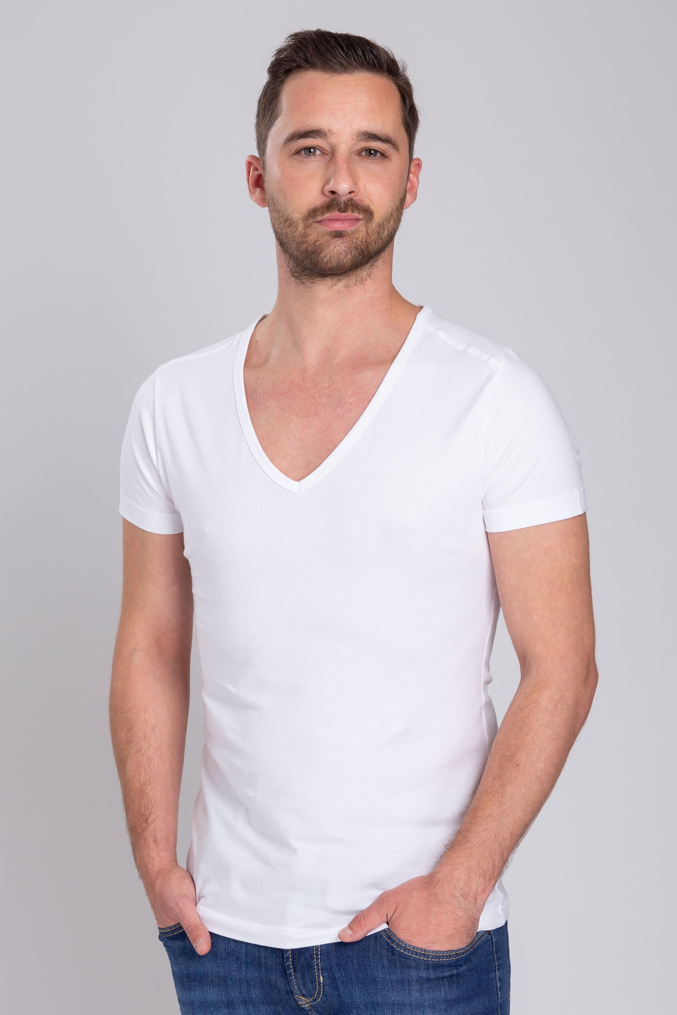 Deep V-Neck 4-Pack Stretch Bamboo T-shirts foto 3