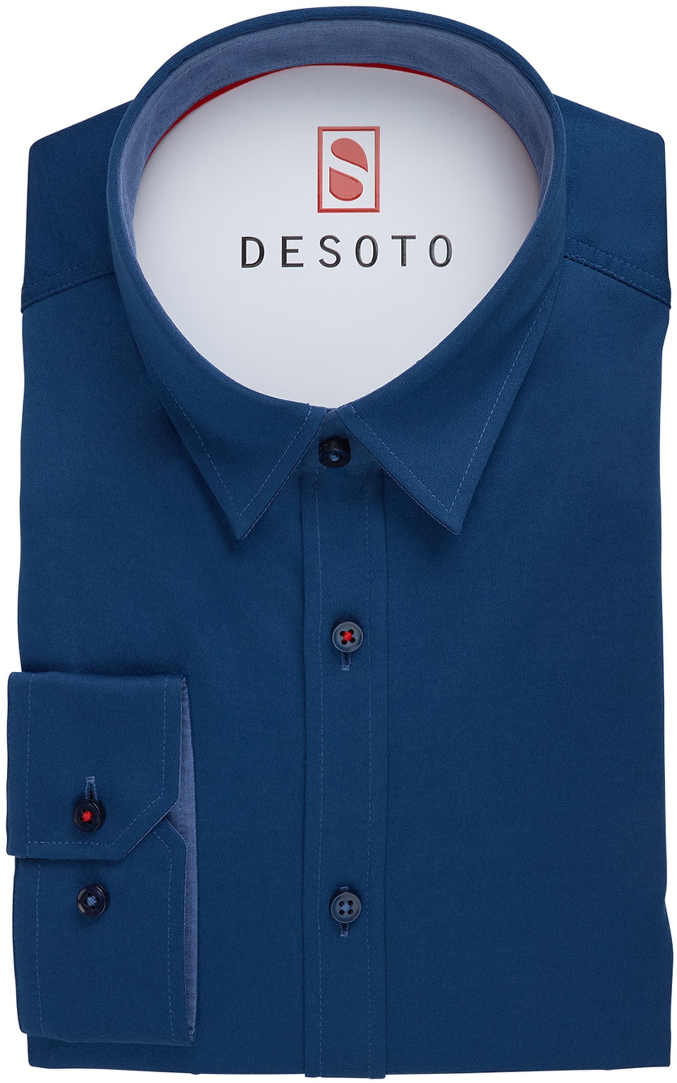 DESOTO Hemd Bügelfrei Blau foto 2