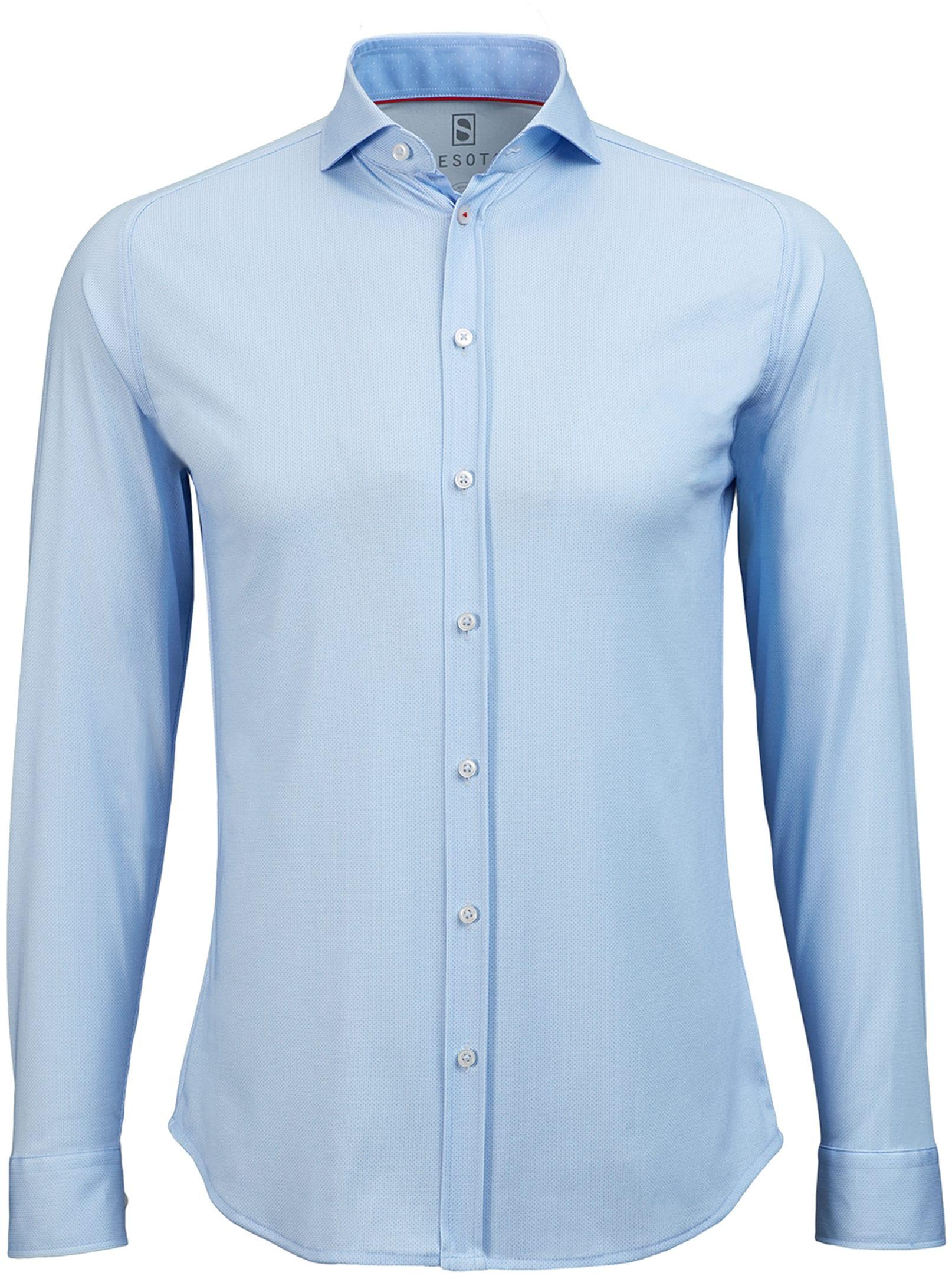 Desoto Hemd Bügelfrei Blau Oxford